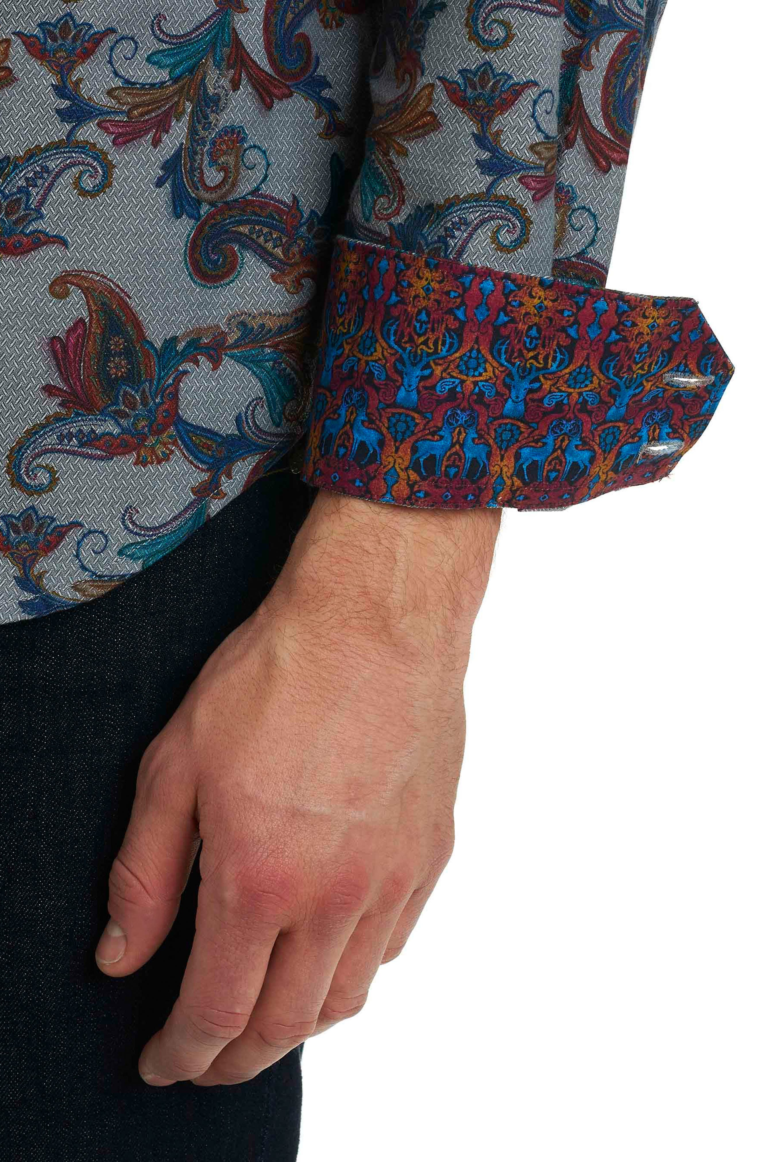 Alternate Image 6  - Robert Graham Massif Print Sport Shirt