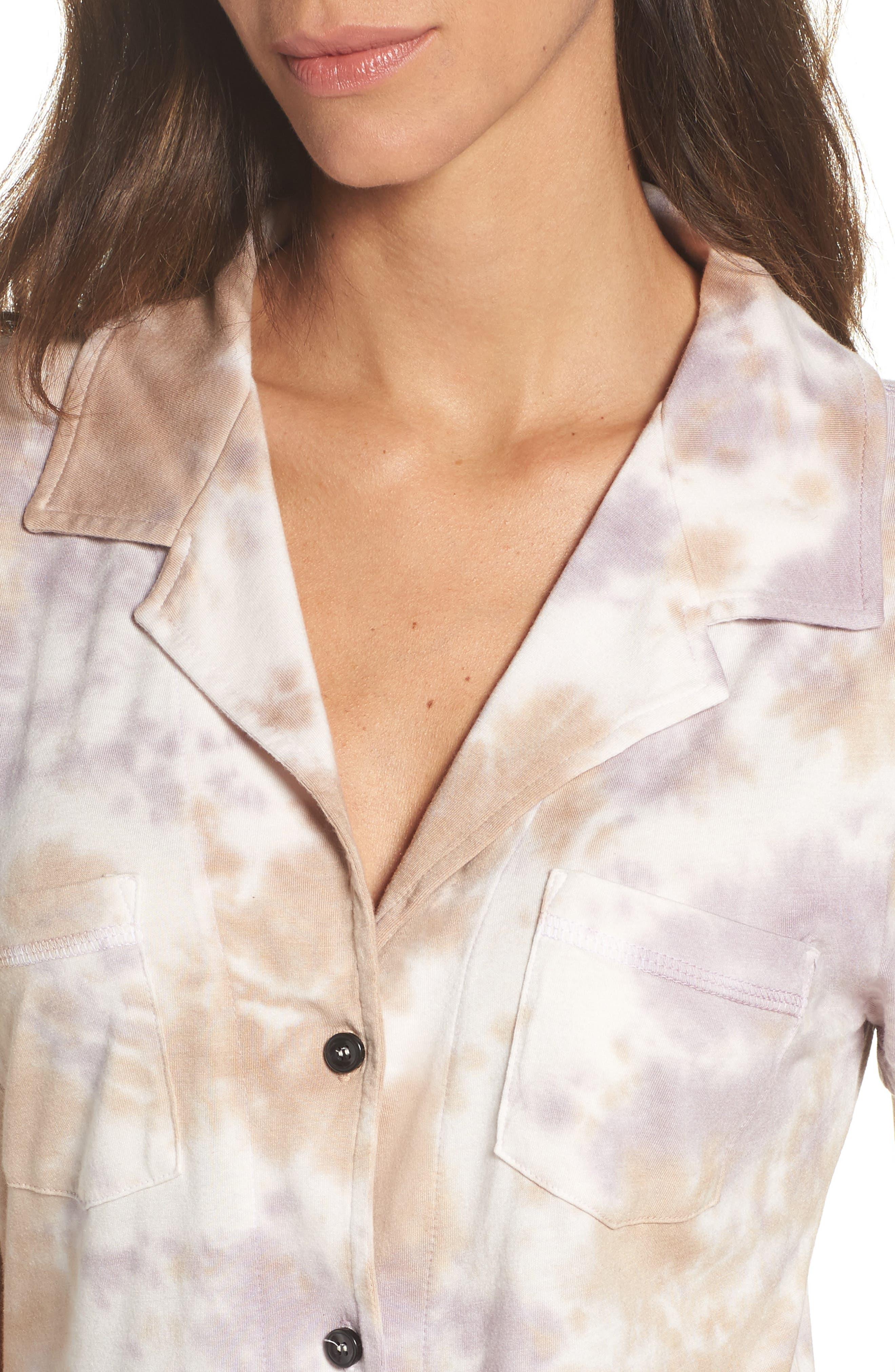 Christine Slim Leg Pajamas,                             Alternate thumbnail 5, color,                             Ash Violet
