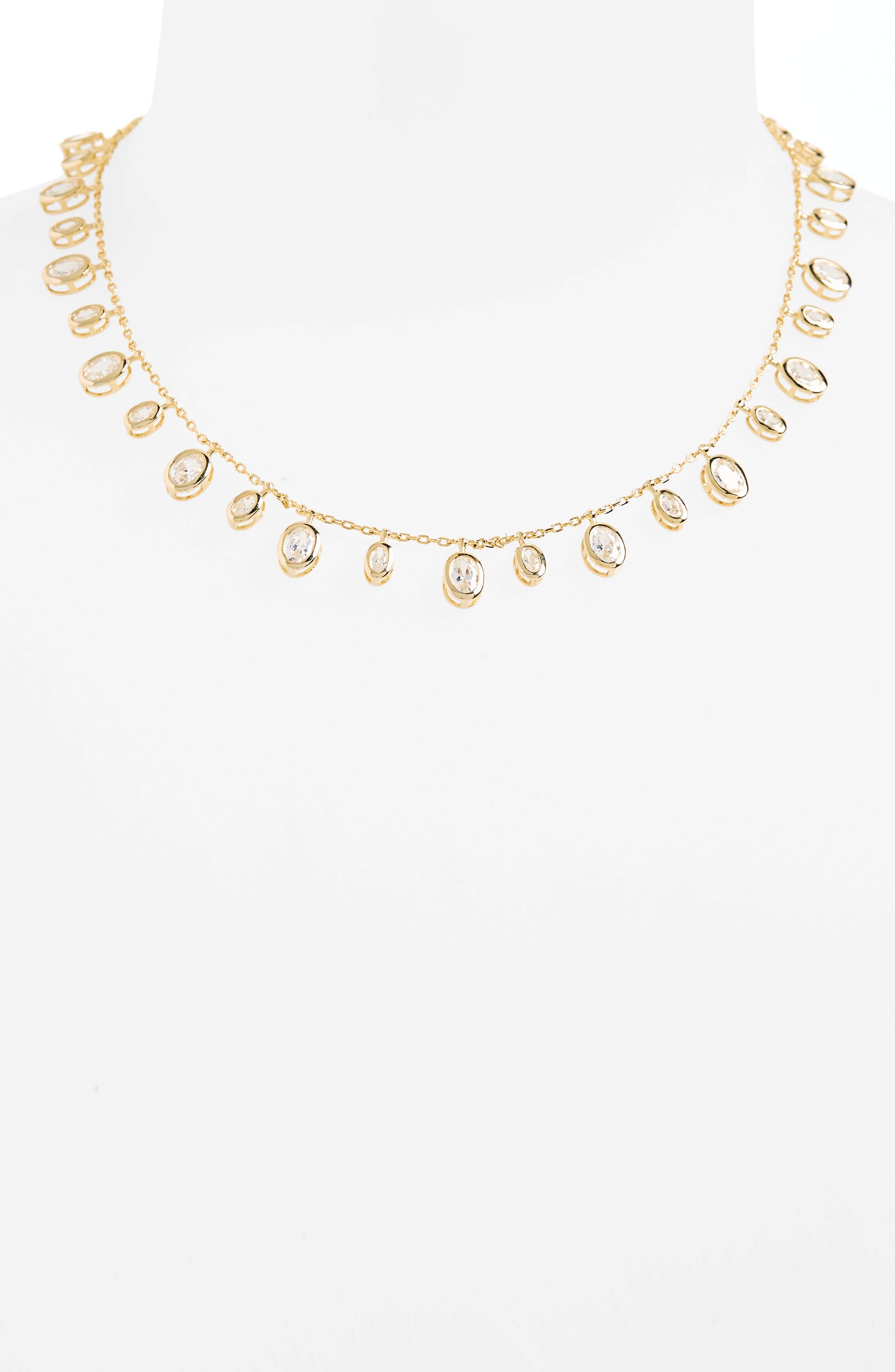Melinda Maria Tracey Cubic Zirconia Collar Necklace