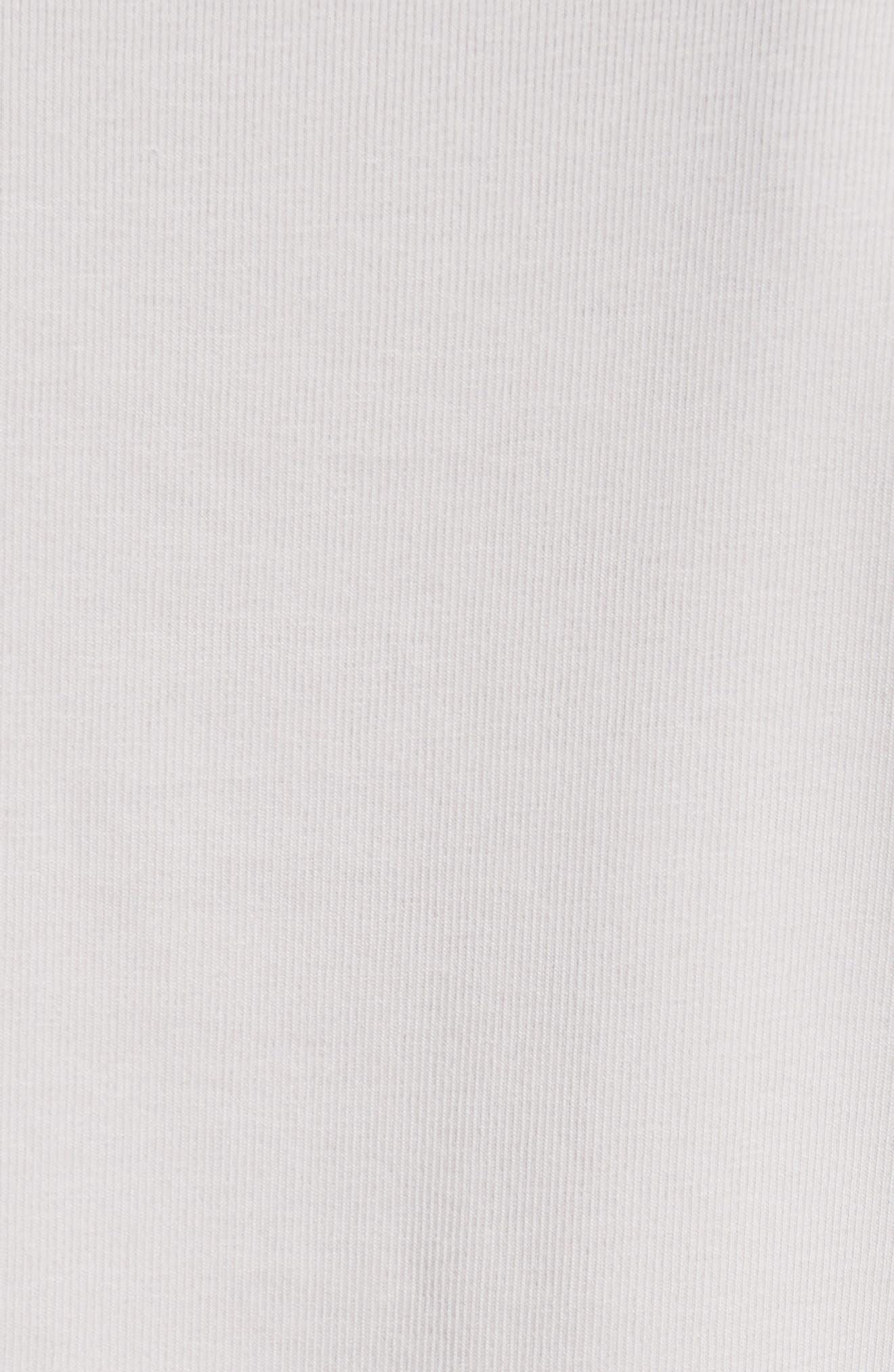 Beaded Crêpe de Chine Front Tank,                             Alternate thumbnail 5, color,                             Grey