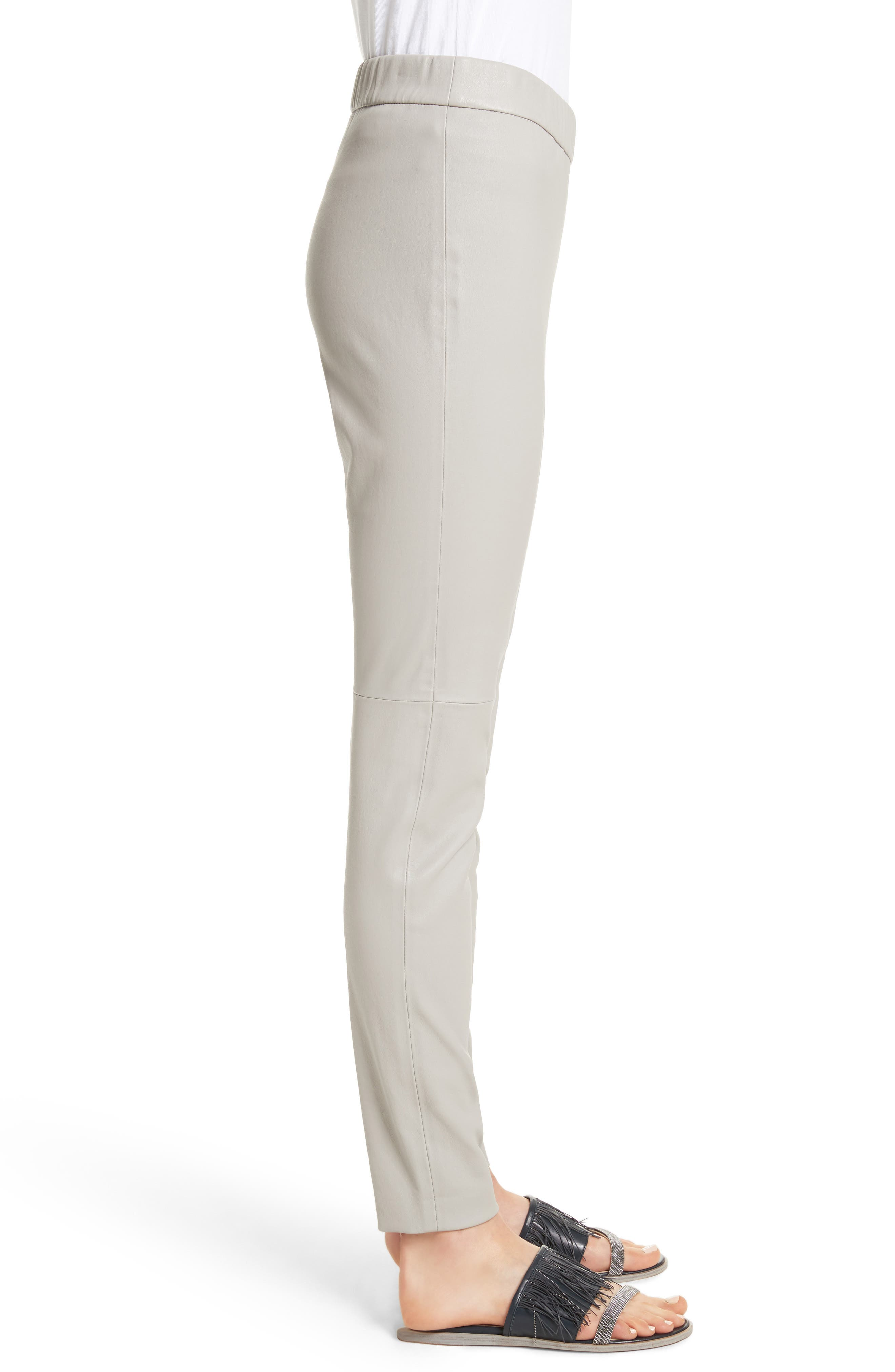 Alternate Image 3  - Fabiana Filippi Stretch Leather Leggings