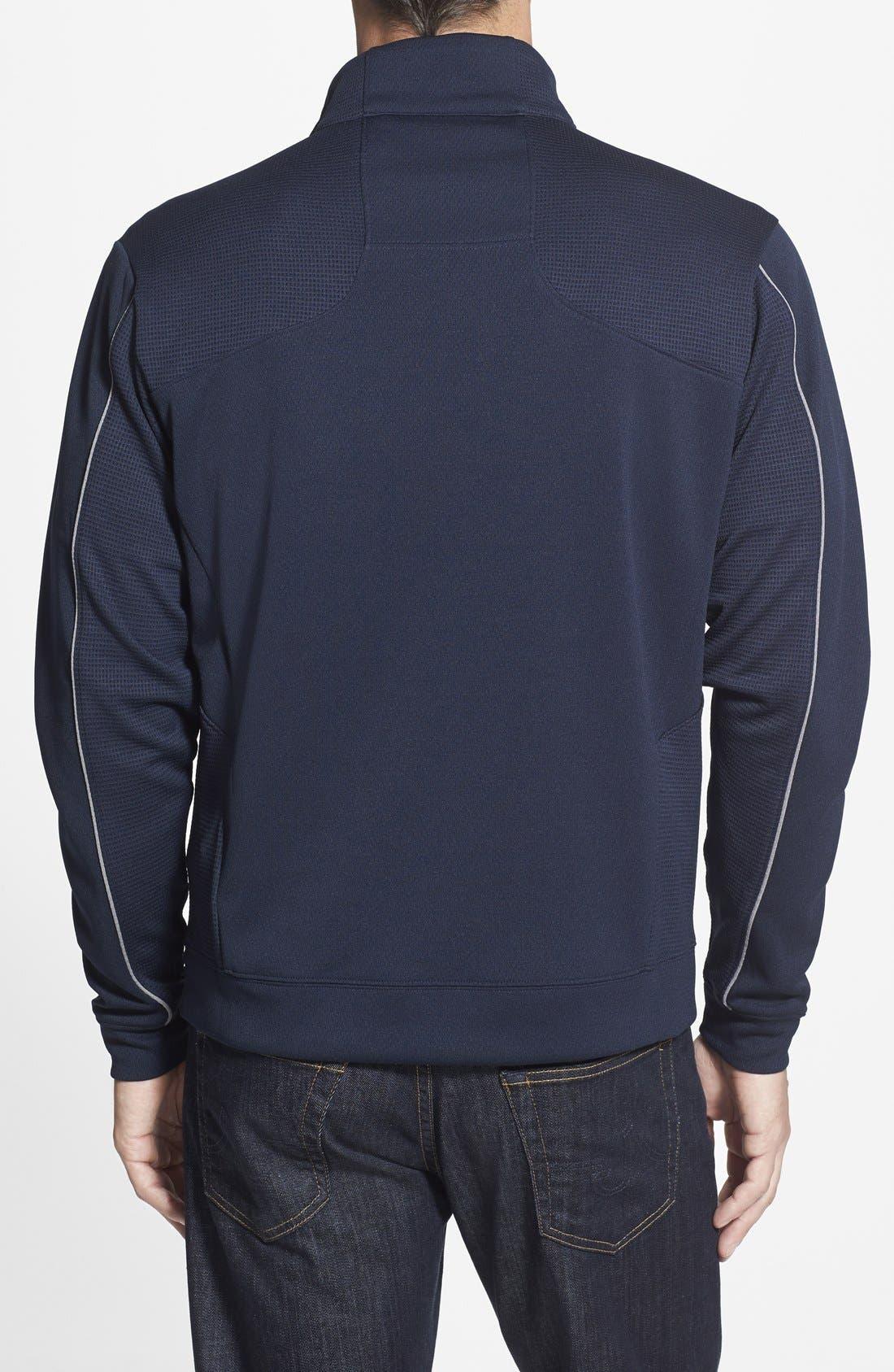 Alternate Image 2  - Cutter & Buck New York Giants - Edge DryTec Moisture Wicking Half Zip Pullover