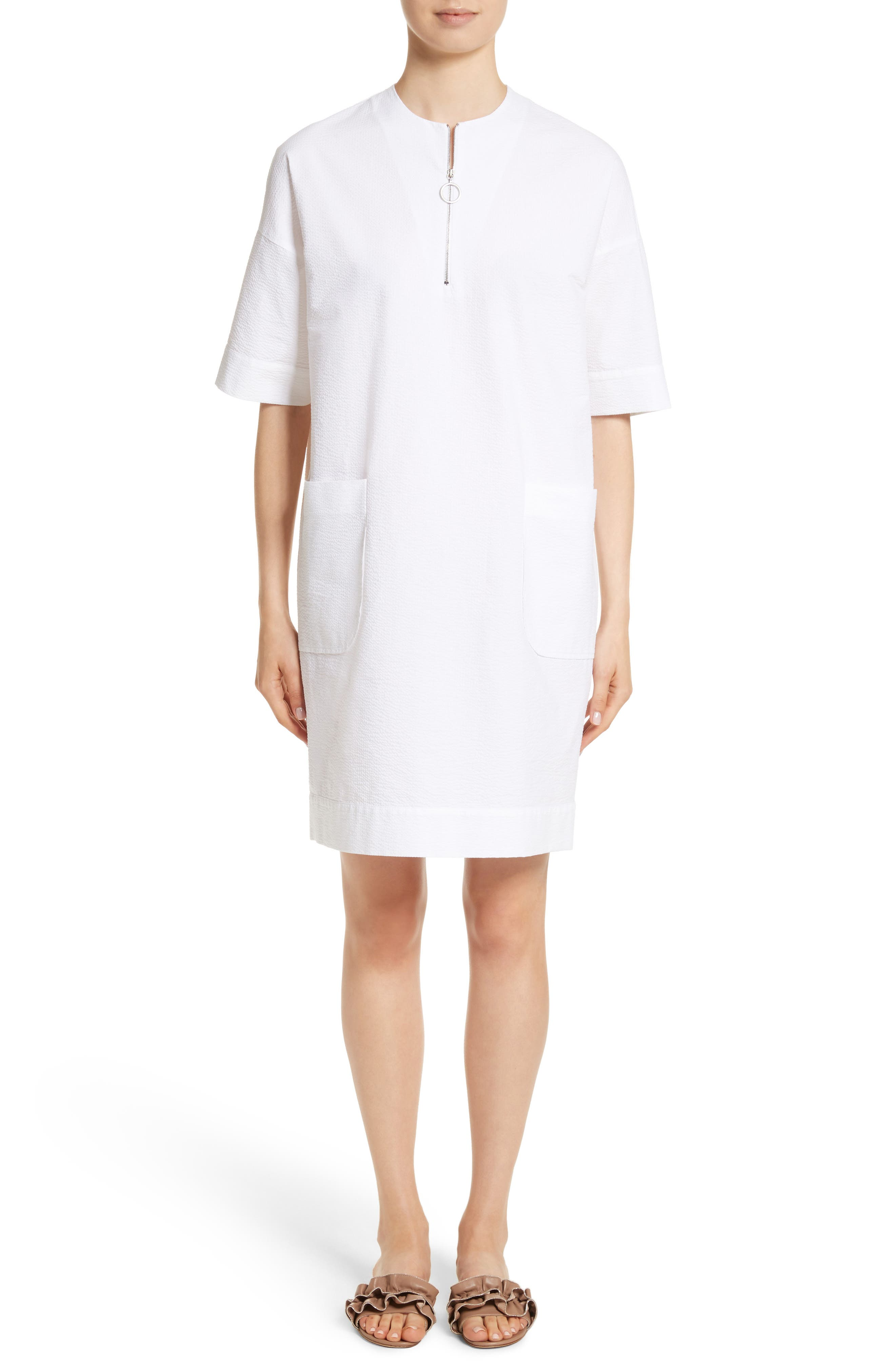 Alternate Image 1 Selected - Fabiana Filippi Seersucker Shift Dress