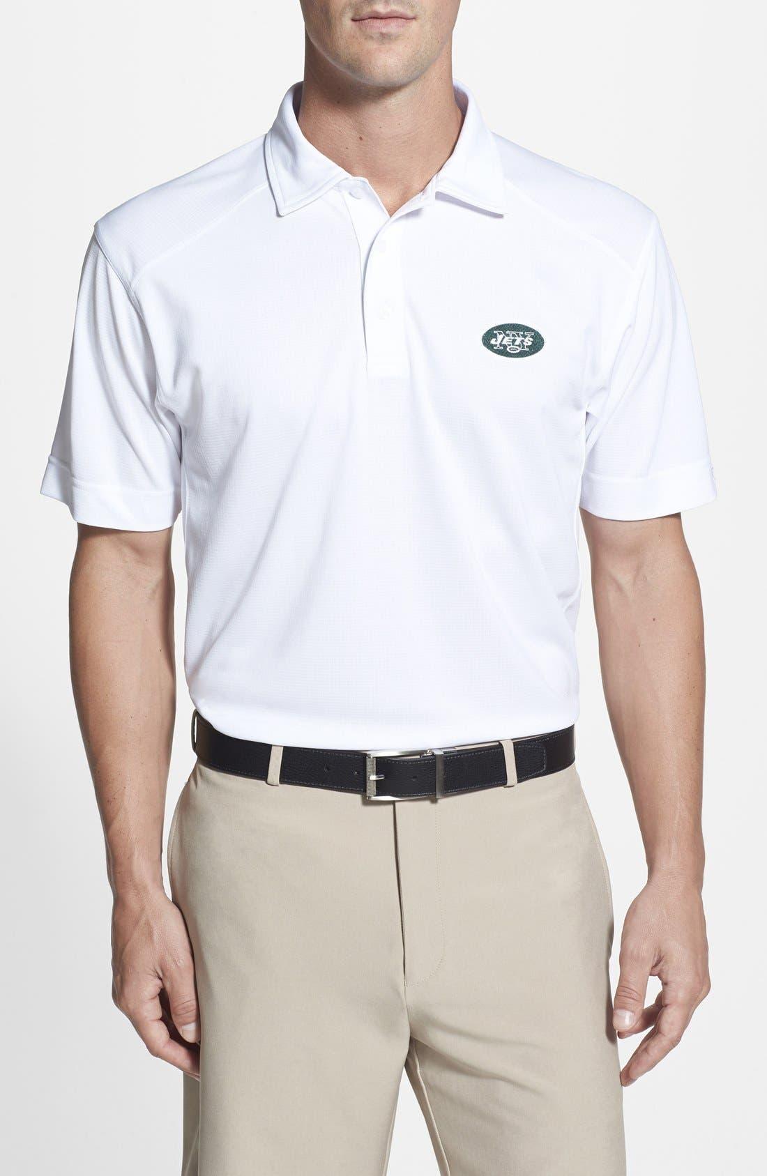 New York Jets - Genre DryTec Moisture Wicking Polo,                         Main,                         color, White