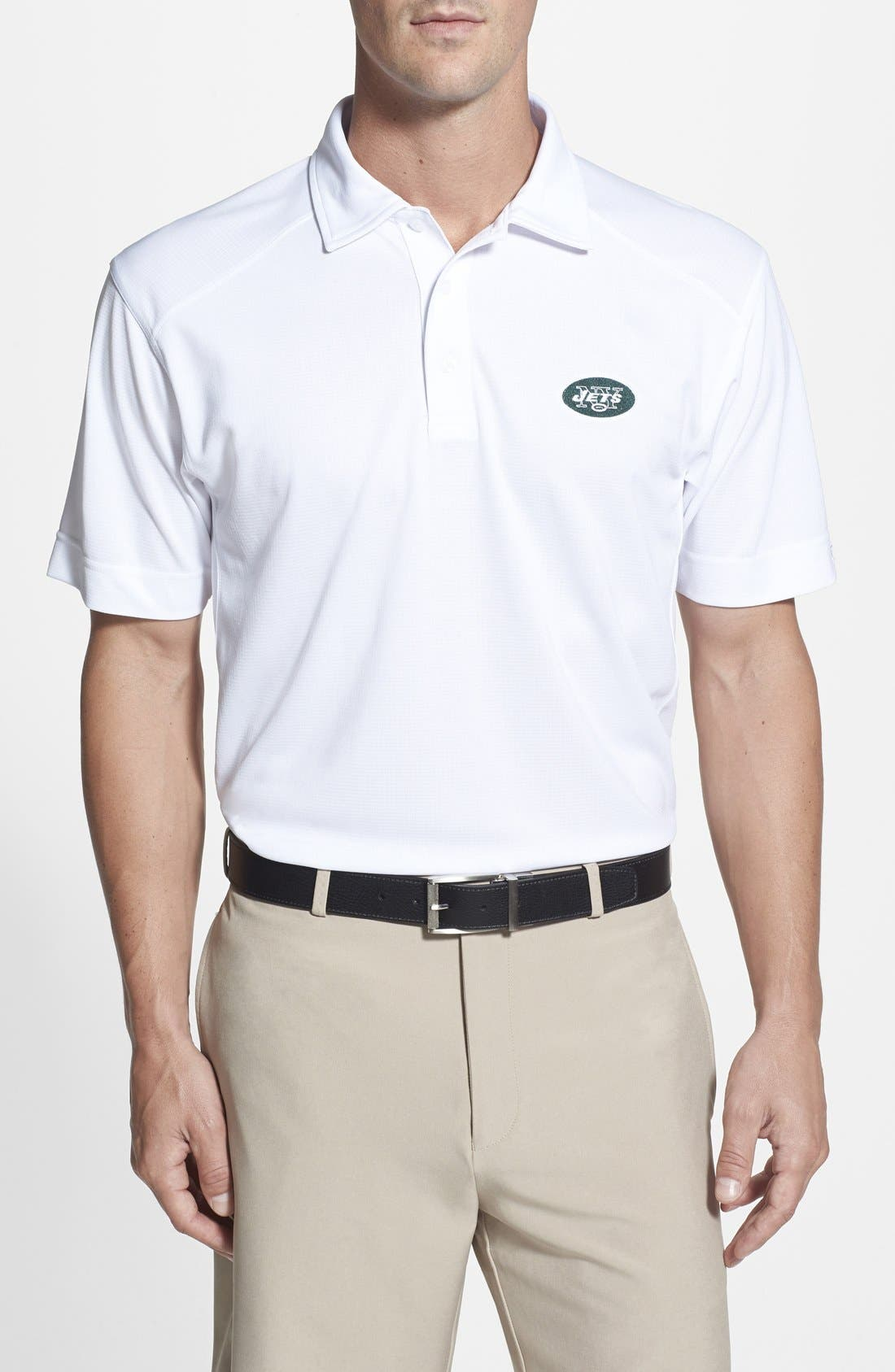 Cutter & Buck 'New York Jets - Genre' DryTec Moisture Wicking Polo (Big & Tall)