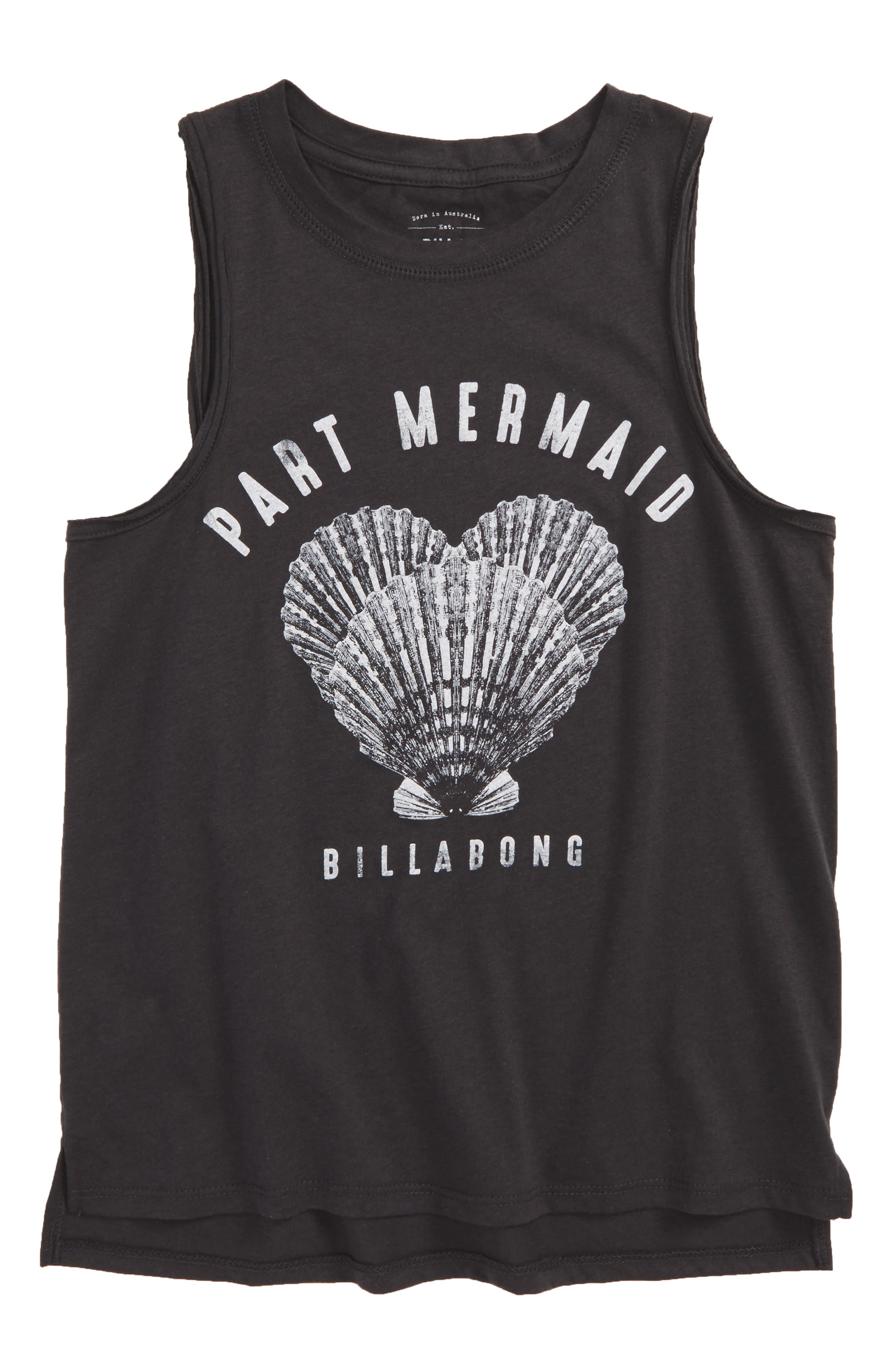 Alternate Image 1 Selected - Billabong Part Mermaid Graphic Tank (Little Girls & Big Girls)