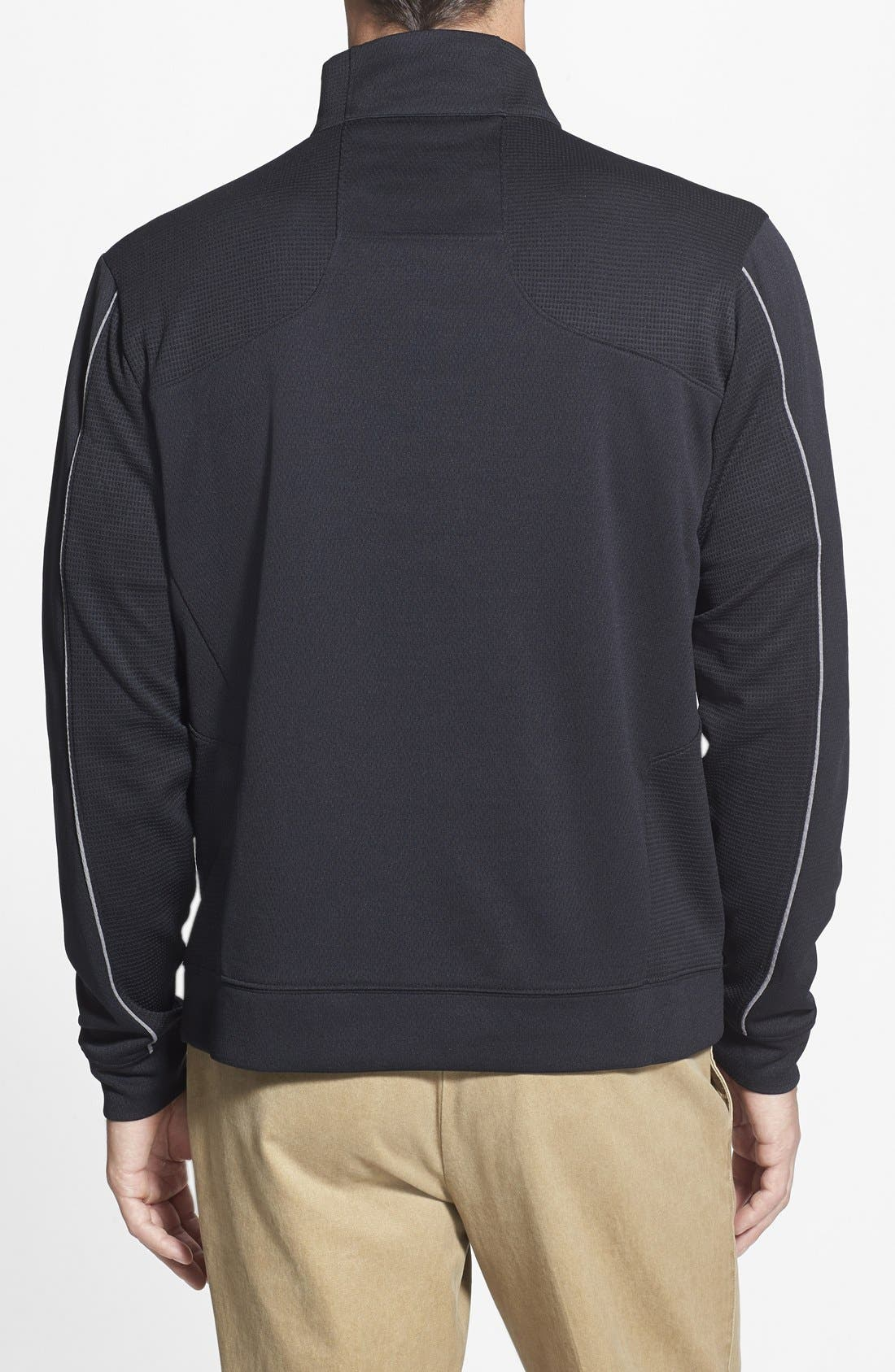 Cleveland Browns - Edge DryTec Moisture Wicking Half Zip Pullover,                             Alternate thumbnail 2, color,                             Black