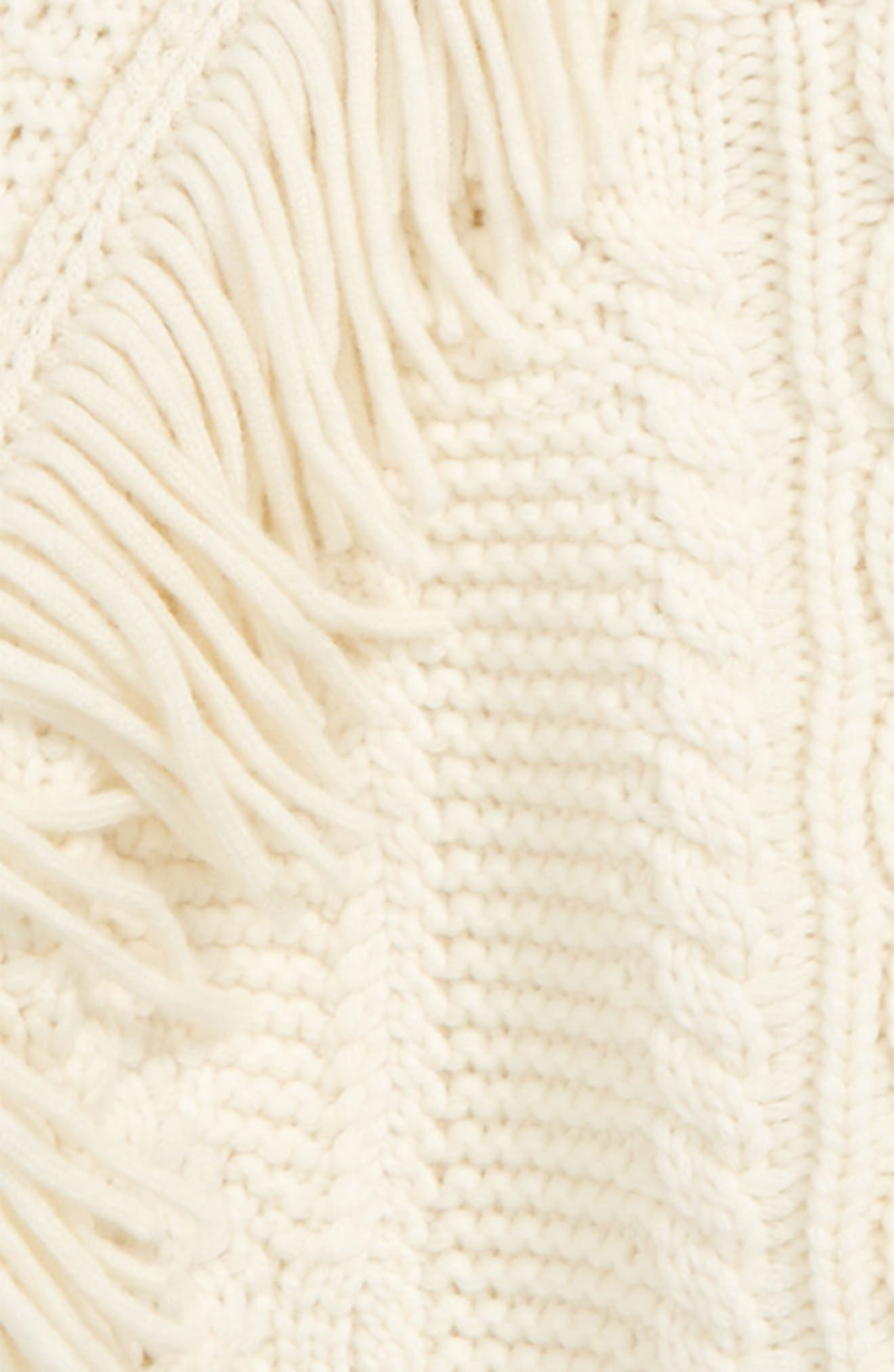 Natasia Cable Knit Sweater,                             Alternate thumbnail 2, color,                             Natural White