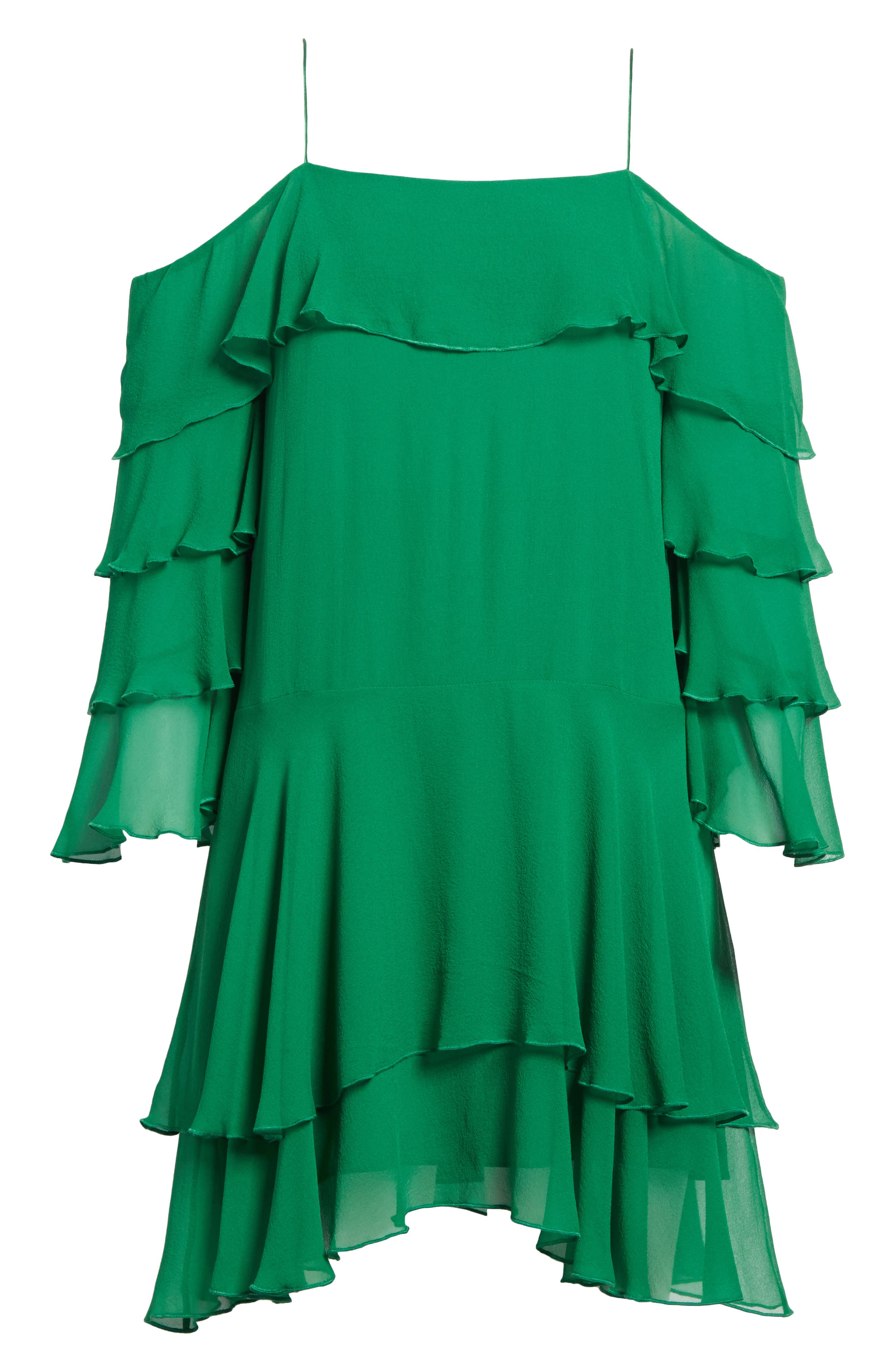 Alternate Image 6  - Alice + Olivia Lexis Lyrd Silk Cold Shoulder Ruffle Dress