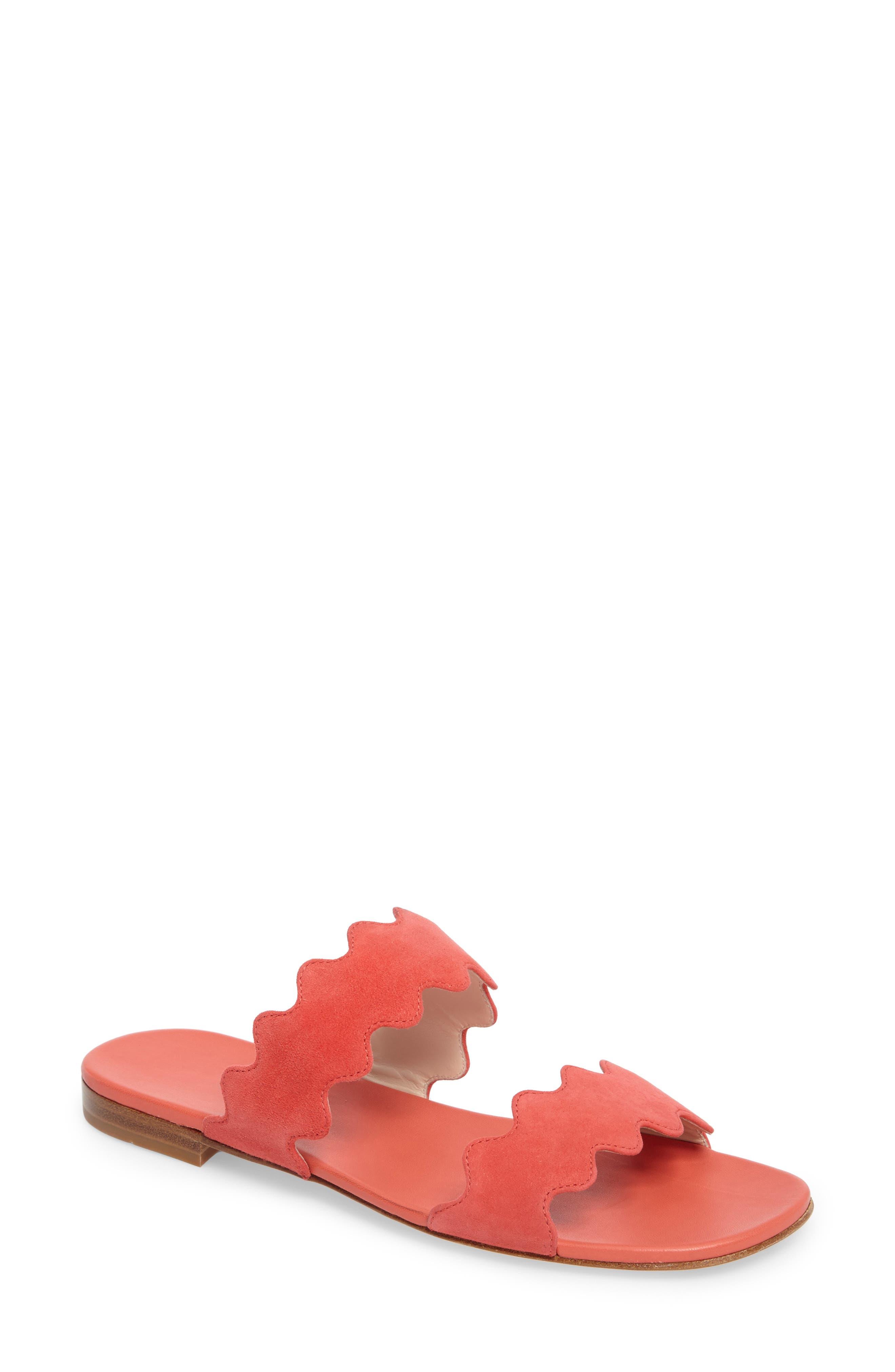 Double Strap Wave Sandal,                         Main,                         color, Corallo