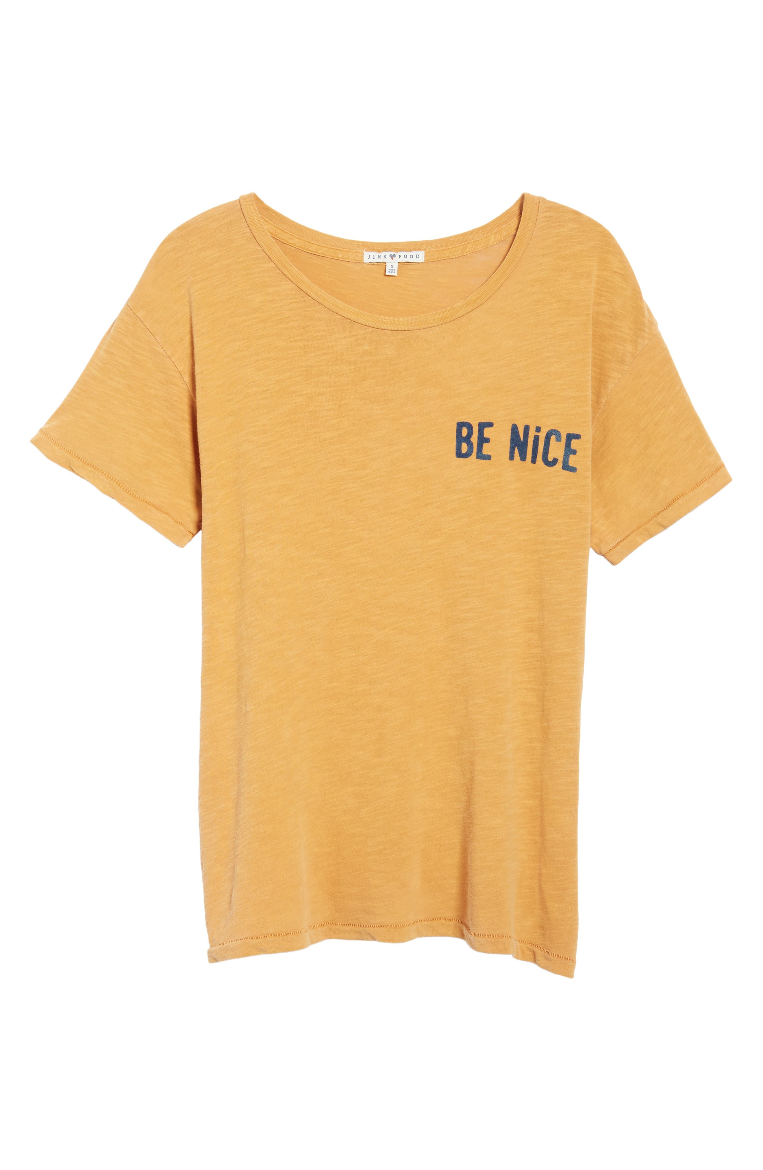 Be Nice Tee,                             Alternate thumbnail 6, color,                             Amber
