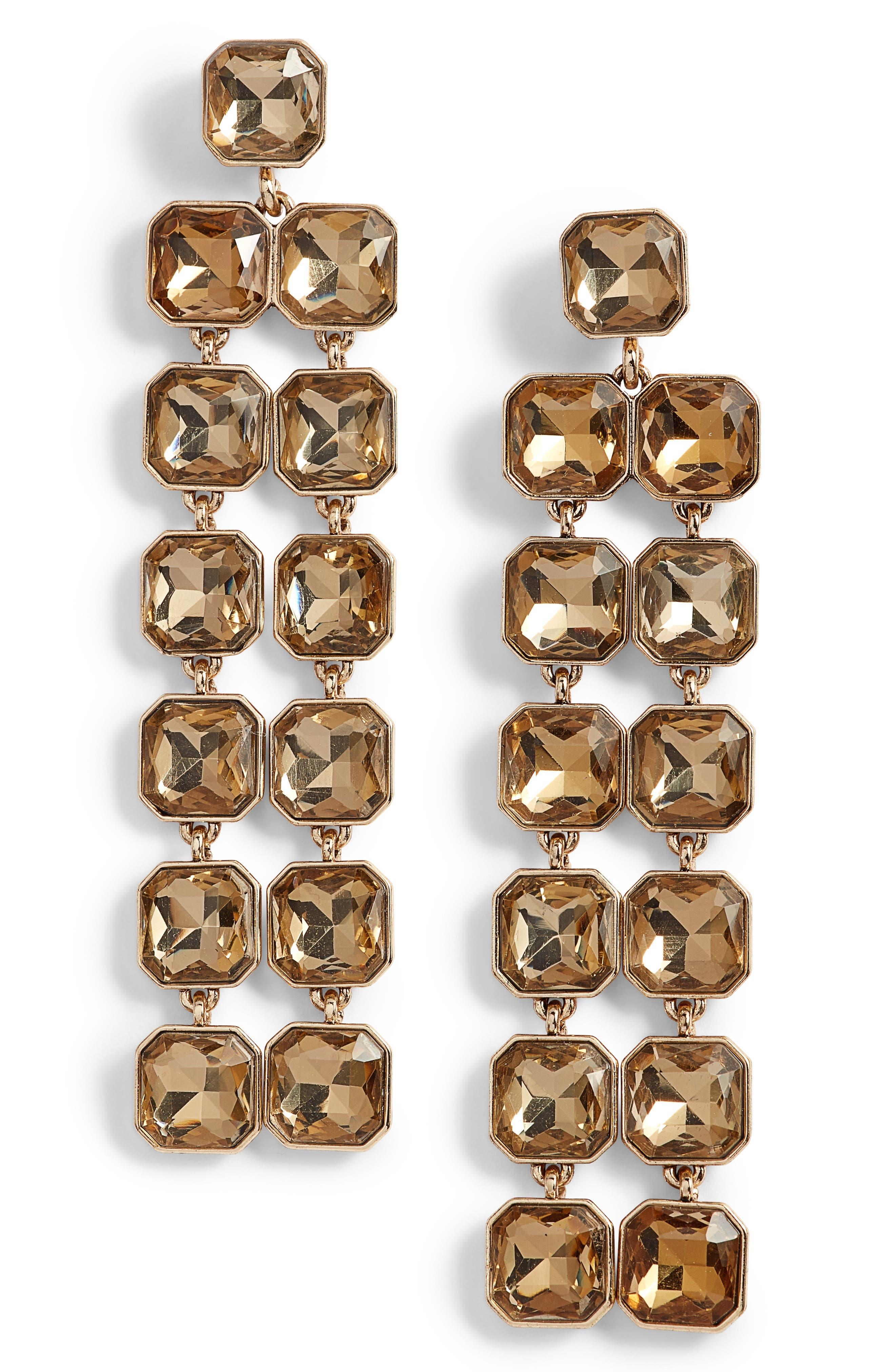 Chandelier Earrings,                         Main,                         color, Topaz