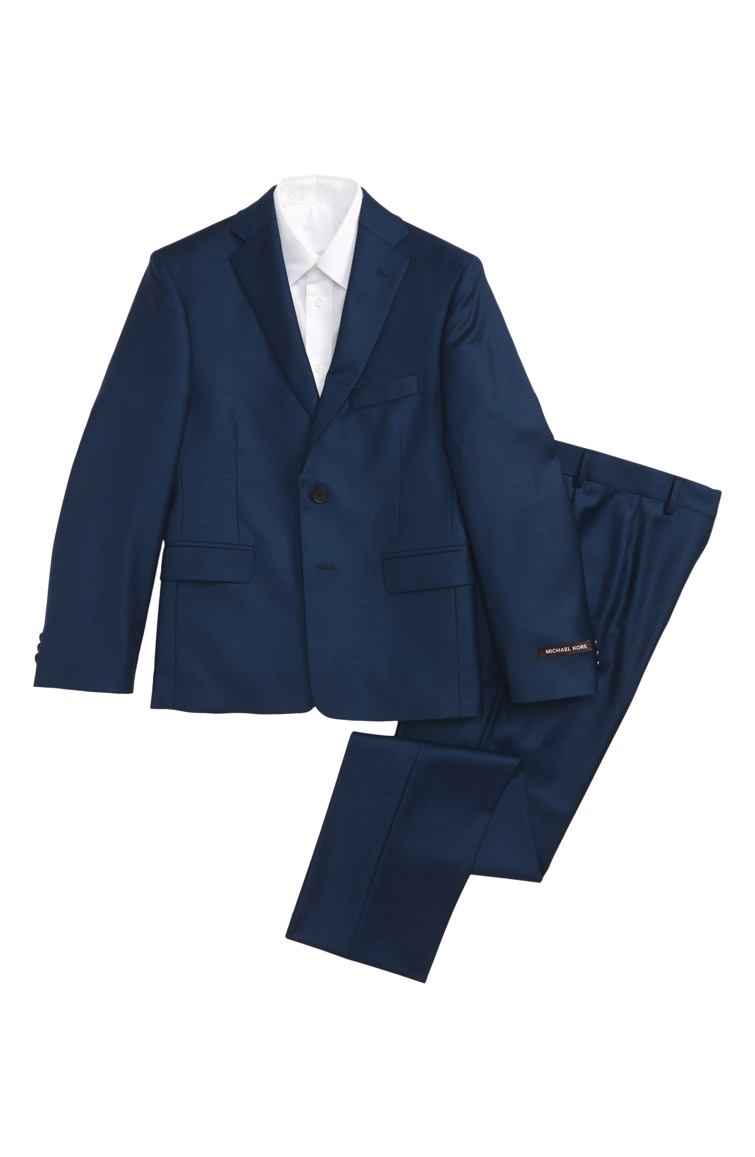 Wool Suit,                         Main,                         color, Blue