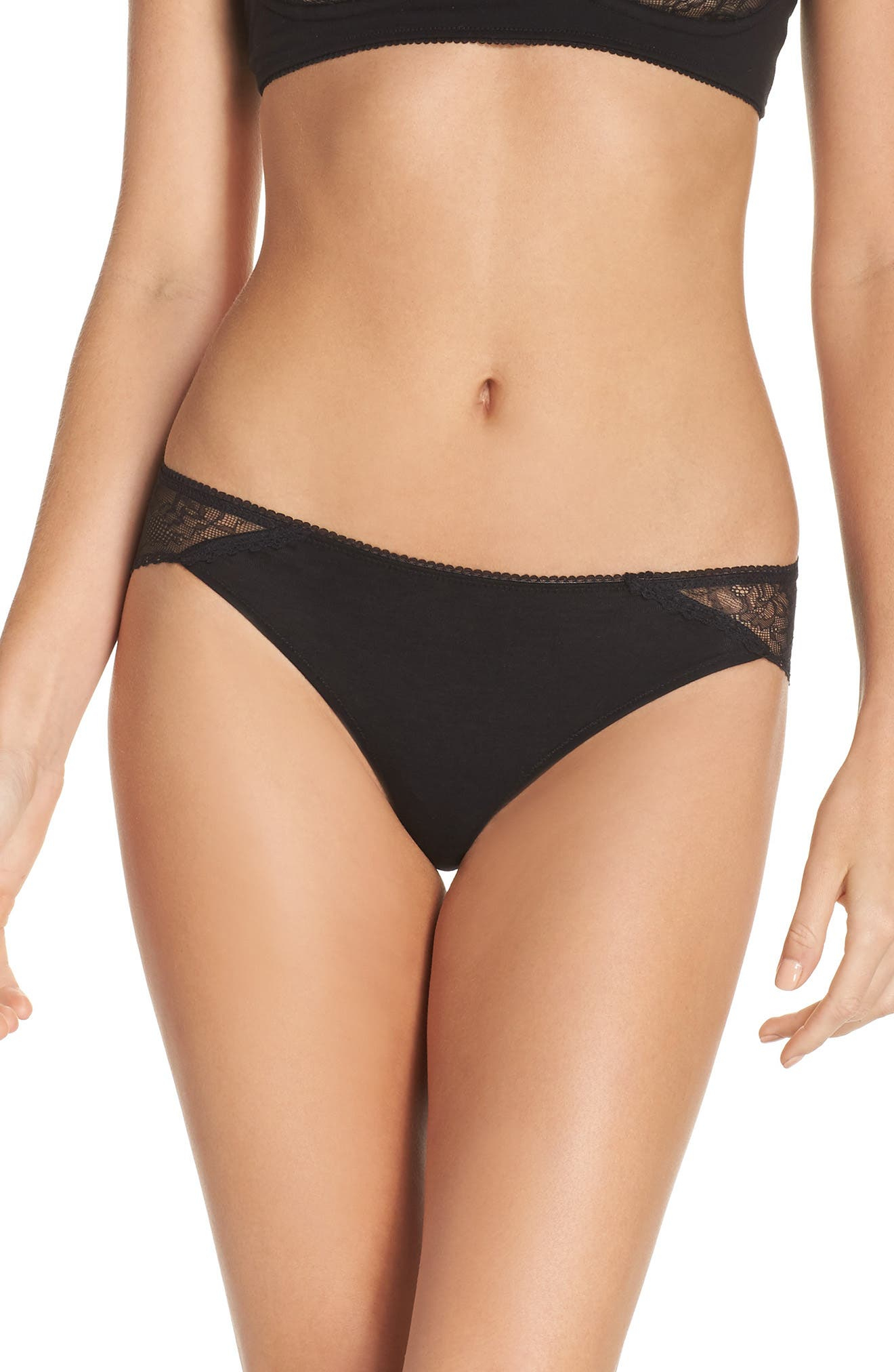 Gracen Lace Bikini,                         Main,                         color, Black
