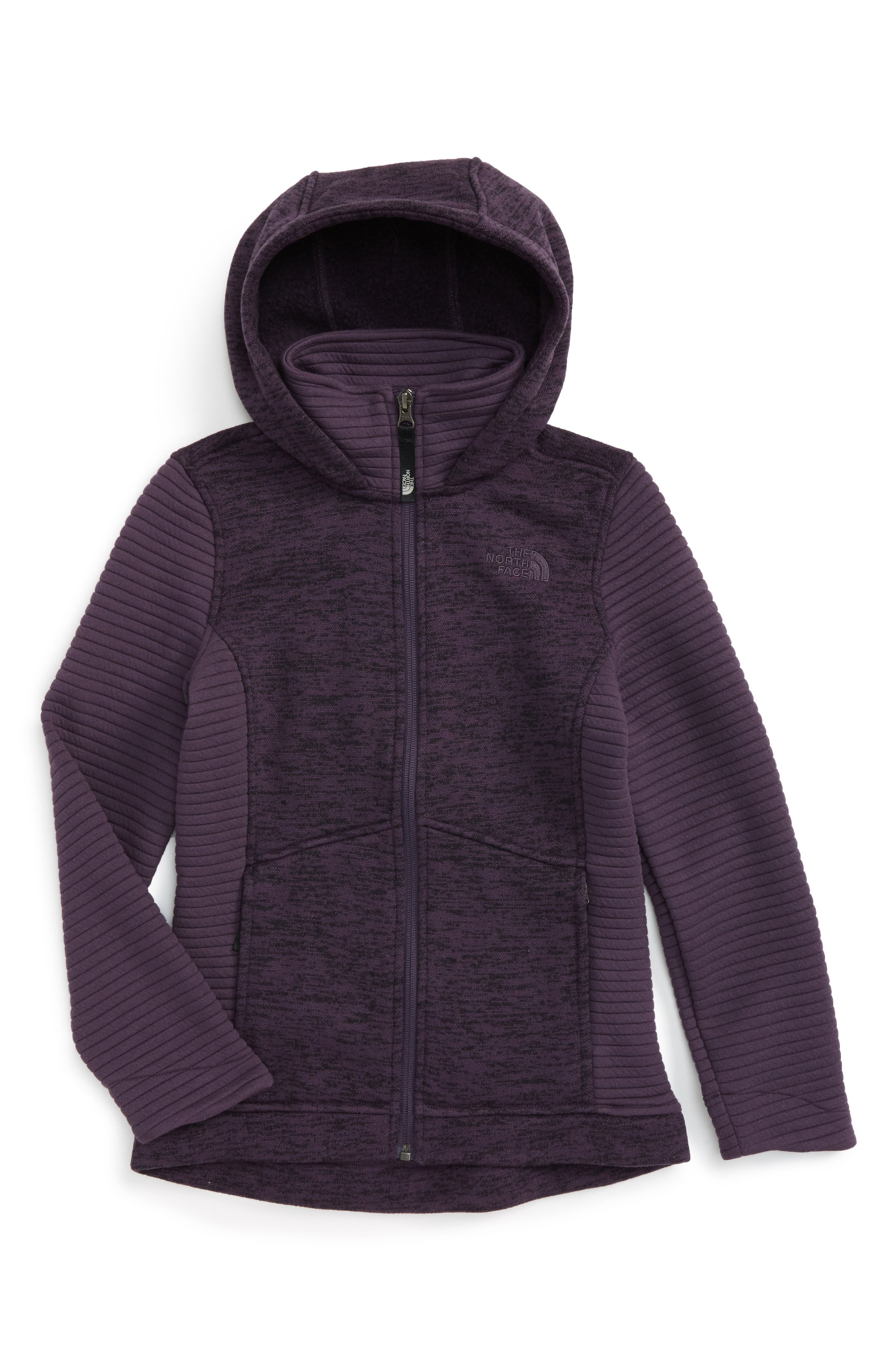 Alternate Image 1 Selected - The North Face Indi 2 Hooded Knit Parka (Big Girls)