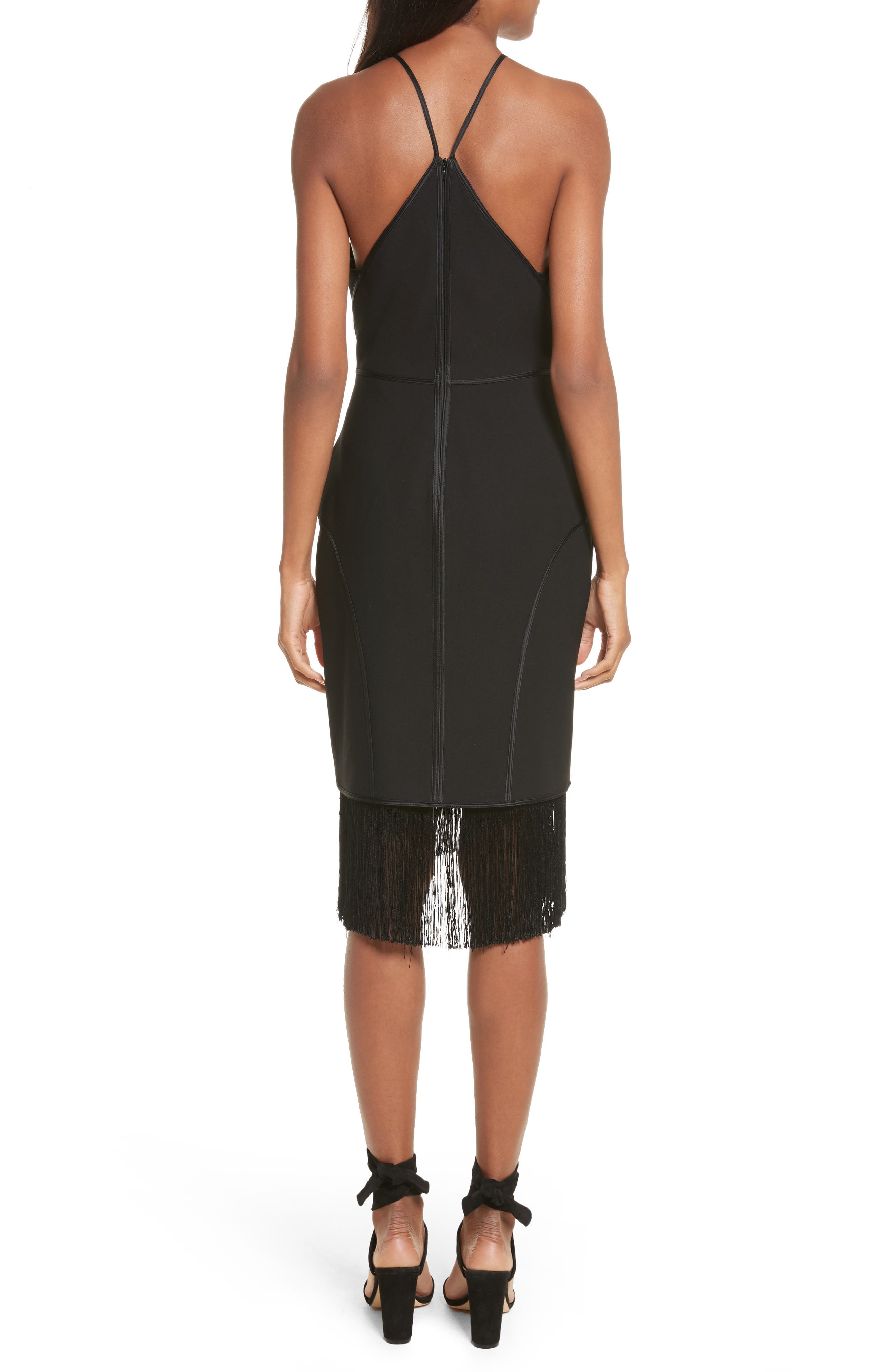 Bryn Halter Dress,                             Alternate thumbnail 2, color,                             Black