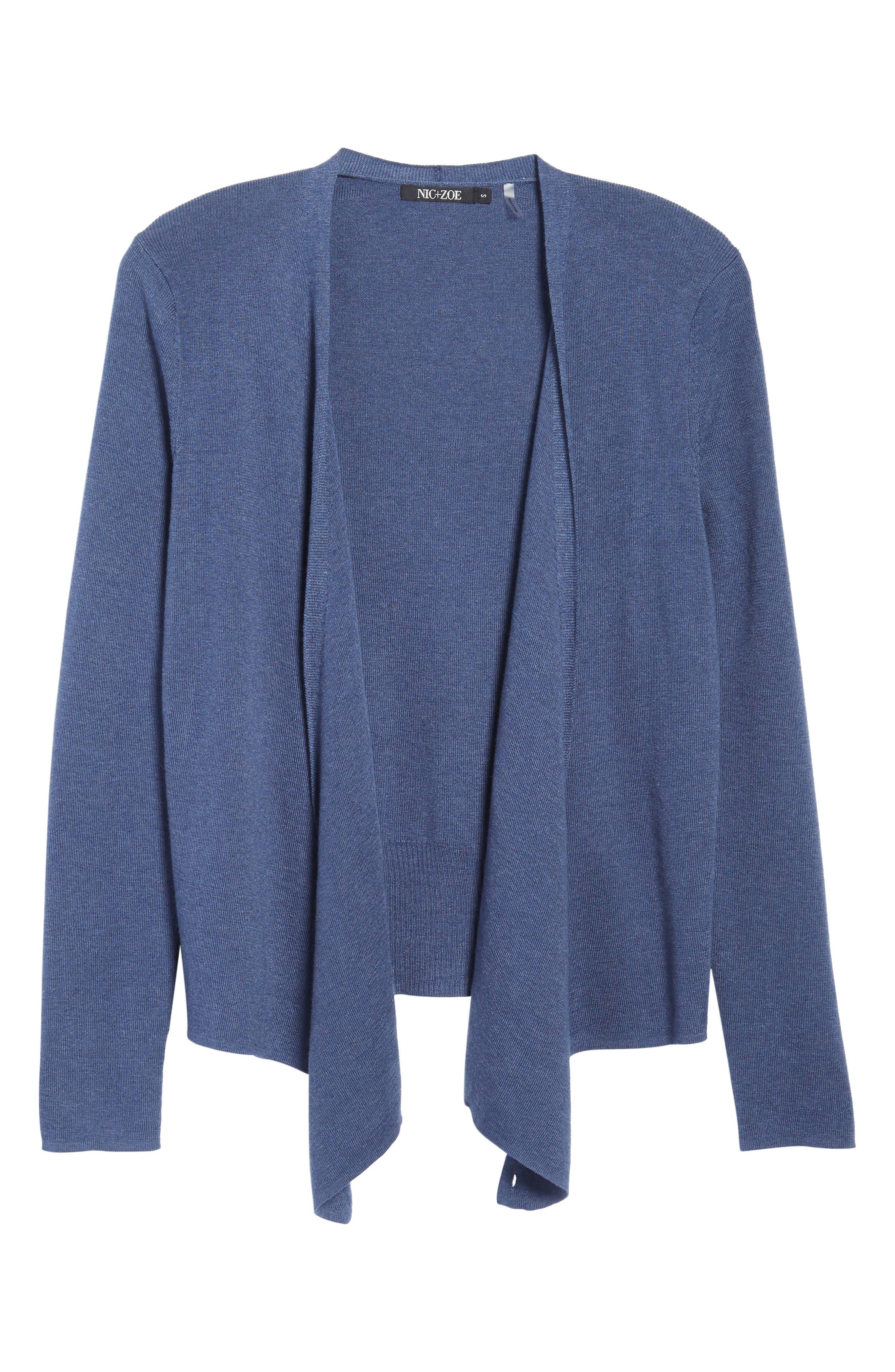 Alternate Image 6  - NIC+ZOE 4-Way Convertible Three Quarter Sleeve Cardigan (Regular and Petite)