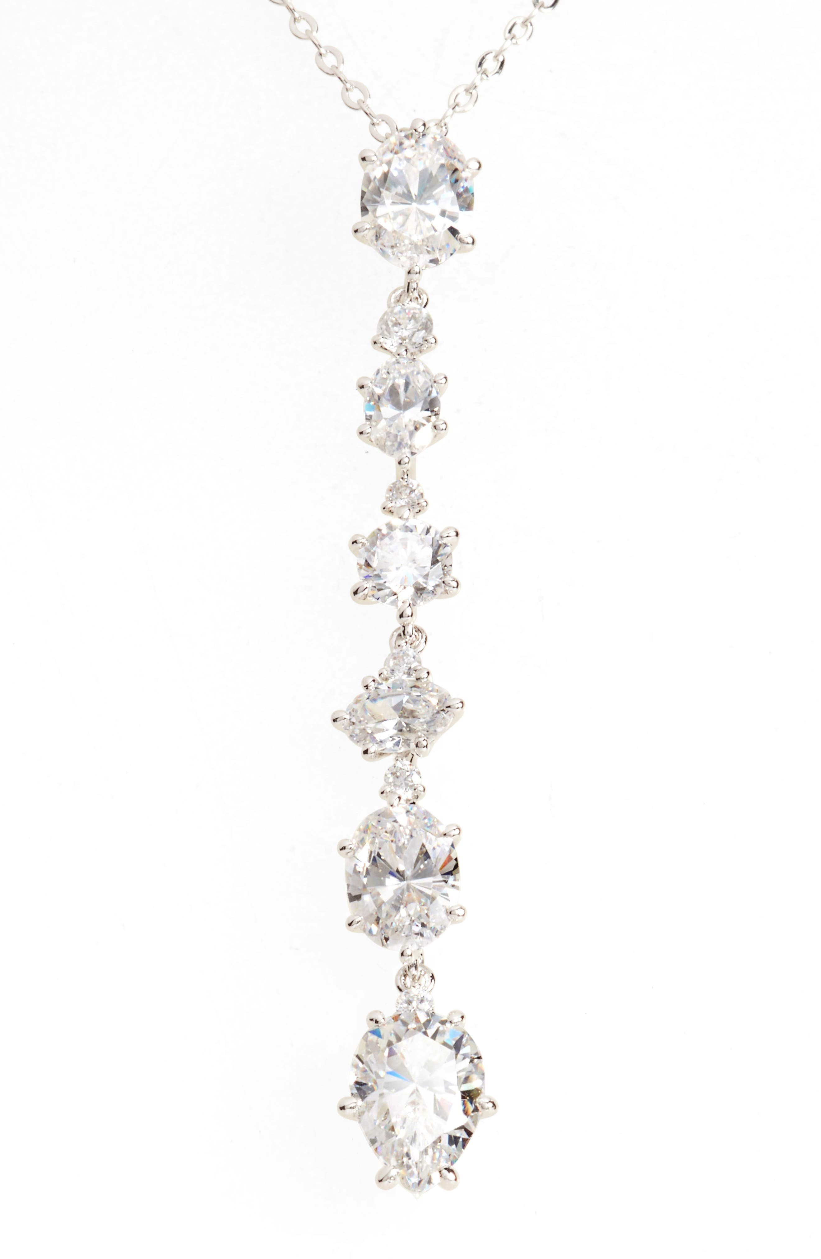 Alternate Image 2  - Nadri Cubic Zirconia Y-Necklace