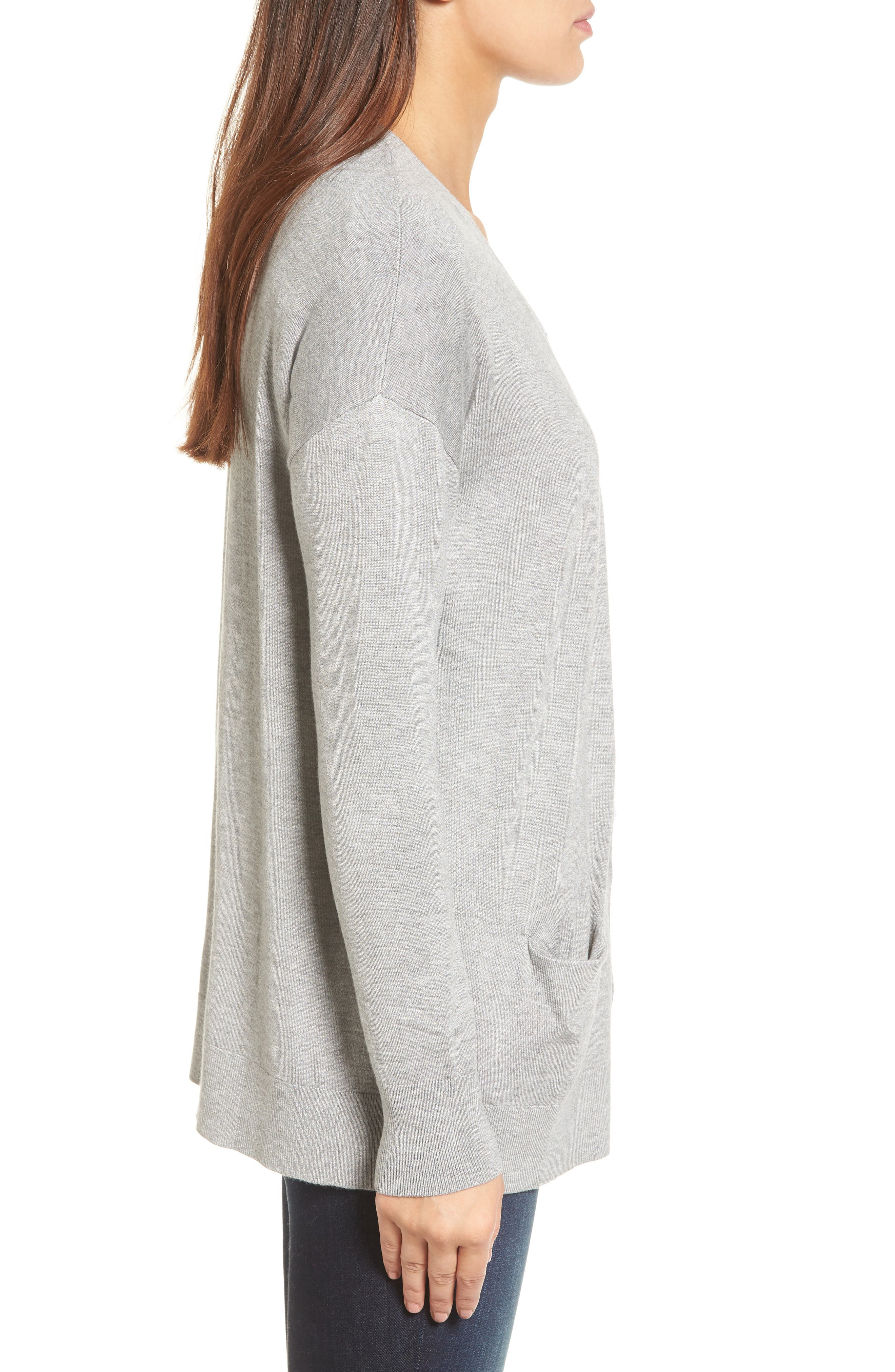 Alternate Image 3  - Halogen® Relaxed Pocket Cardigan
