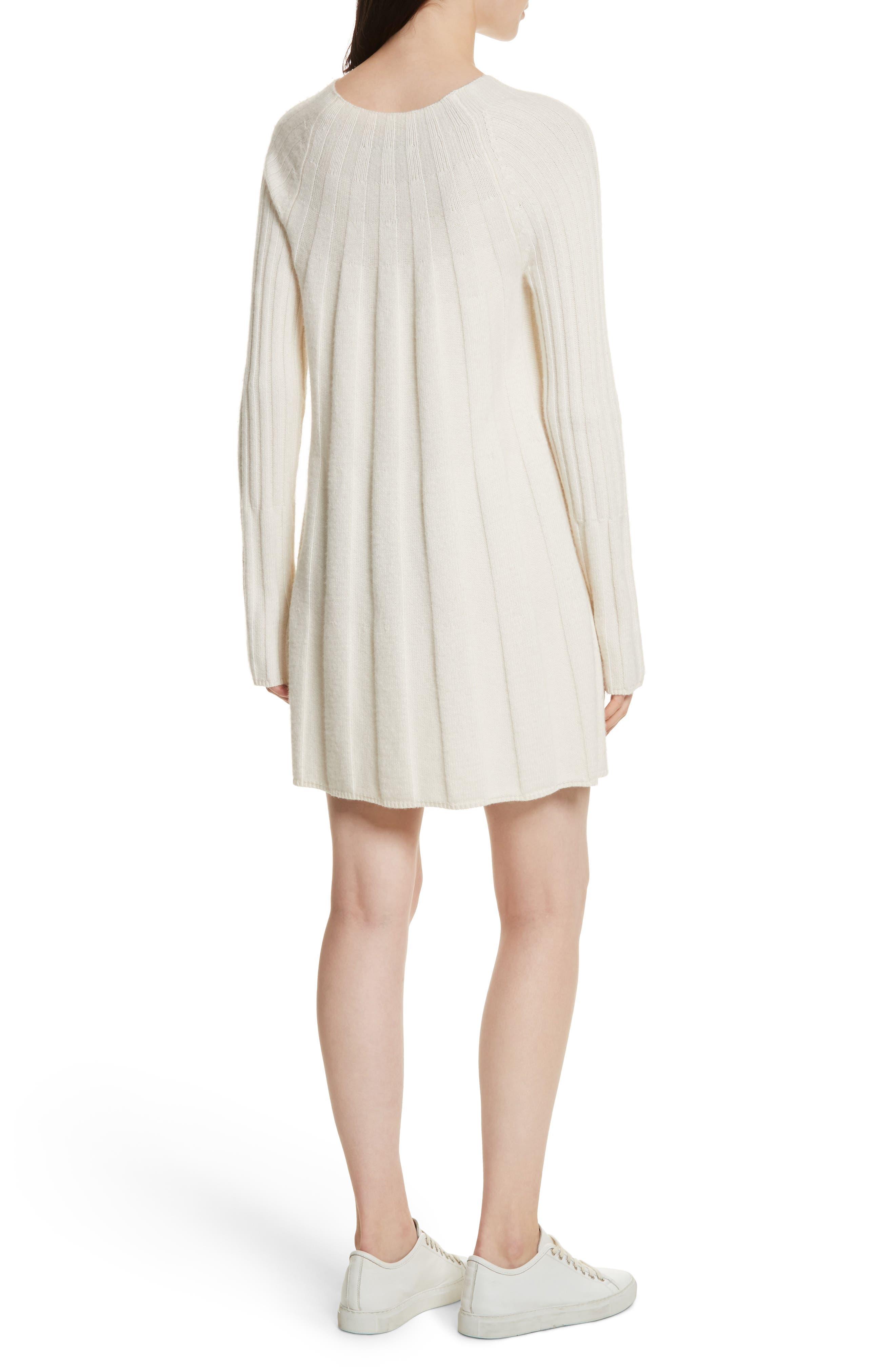Gerri Knit Swing Dress,                             Alternate thumbnail 2, color,                             Ivory