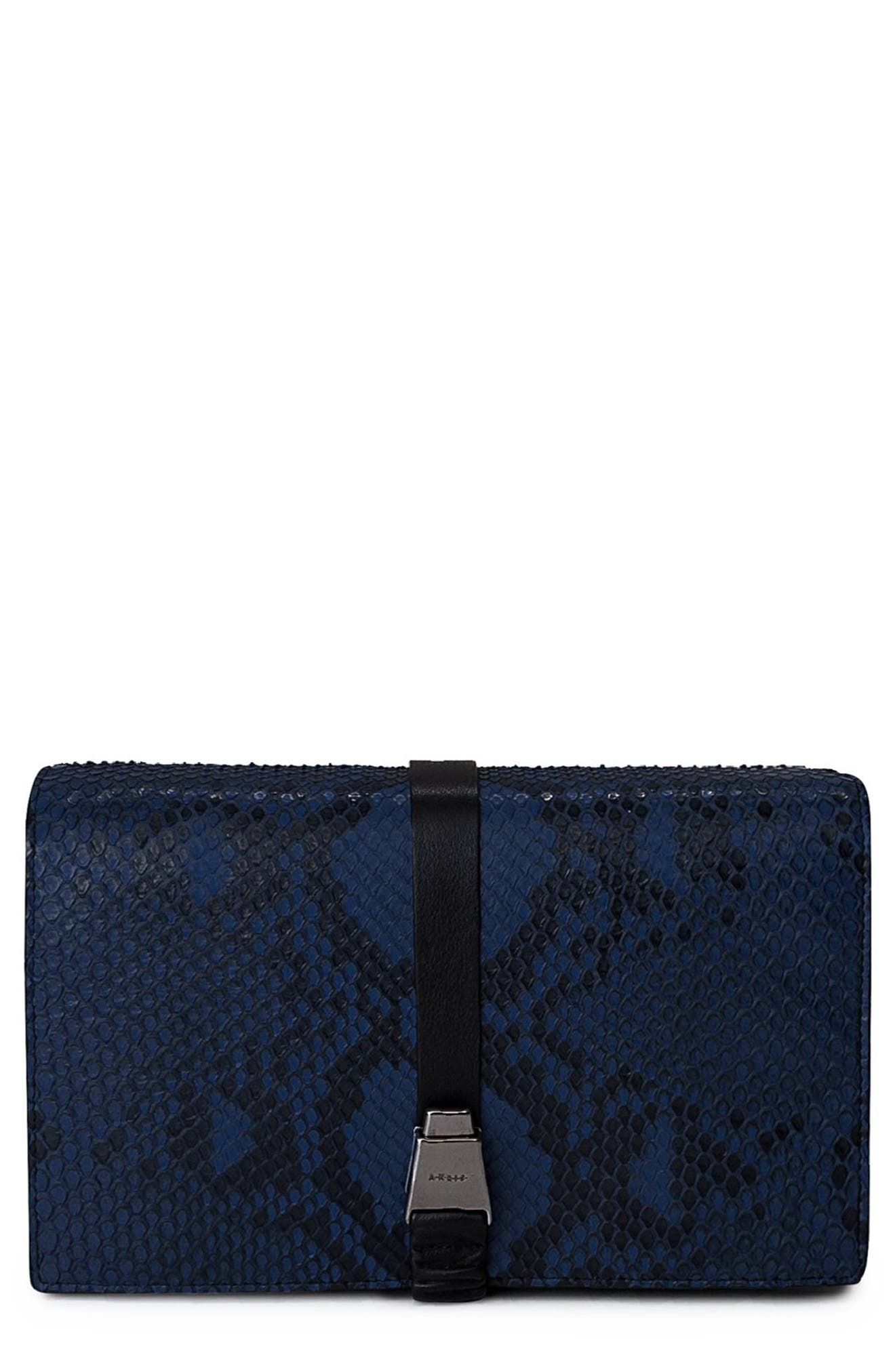 Akris Alice Genuine Python Crossbody Bag