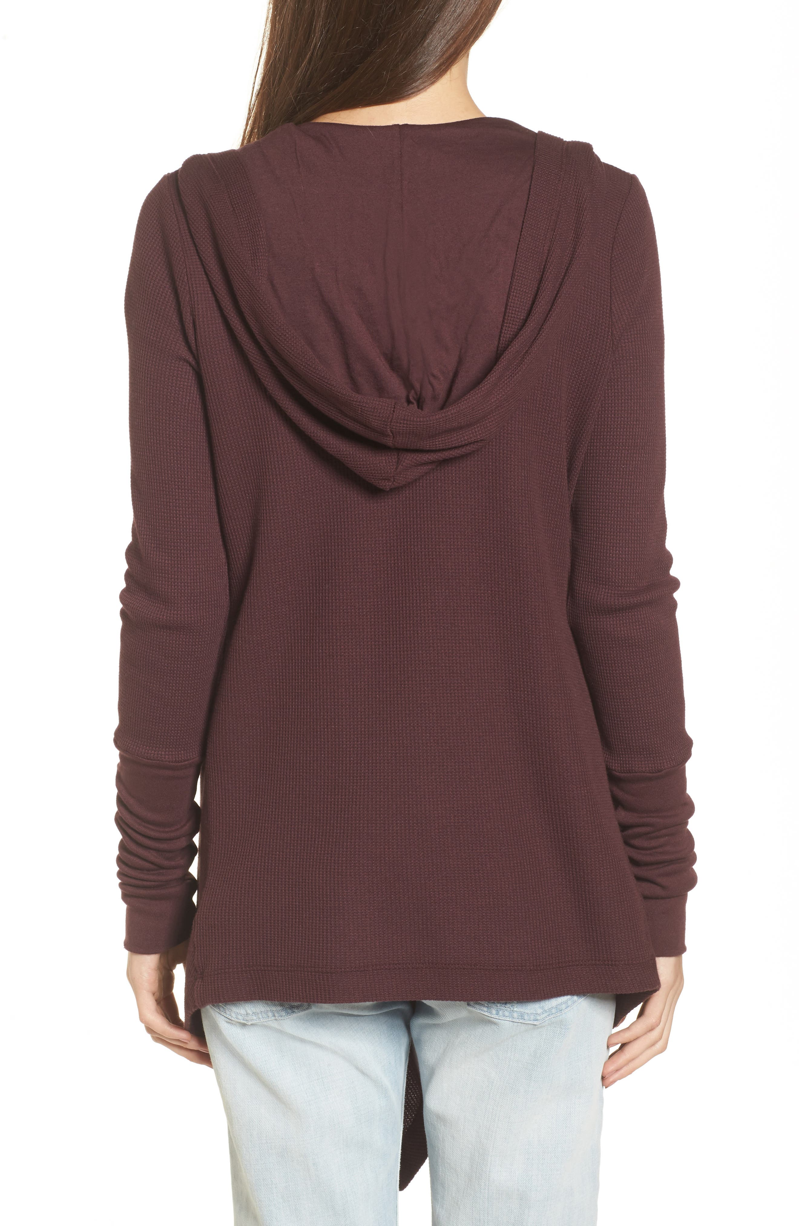 Alternate Image 2  - Splendid Draped Thermal Hoodie