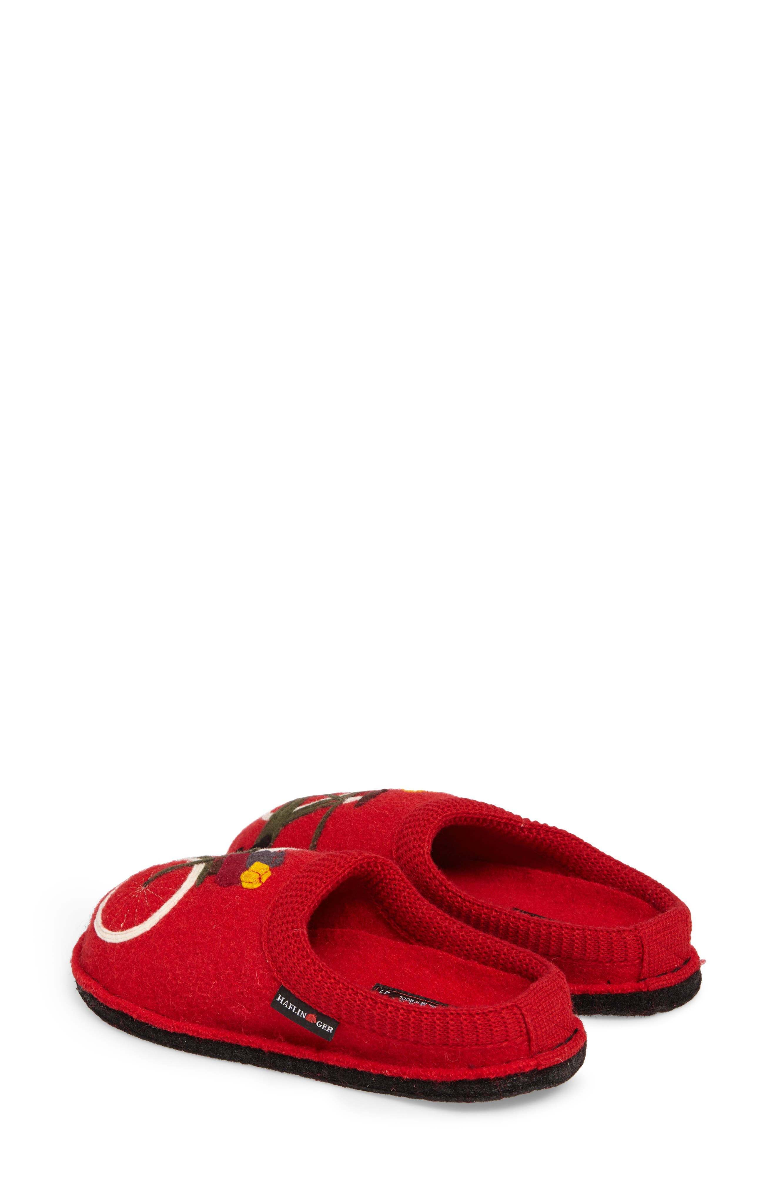 Bicycle Slipper,                             Alternate thumbnail 2, color,                             Bicycle Red Wool