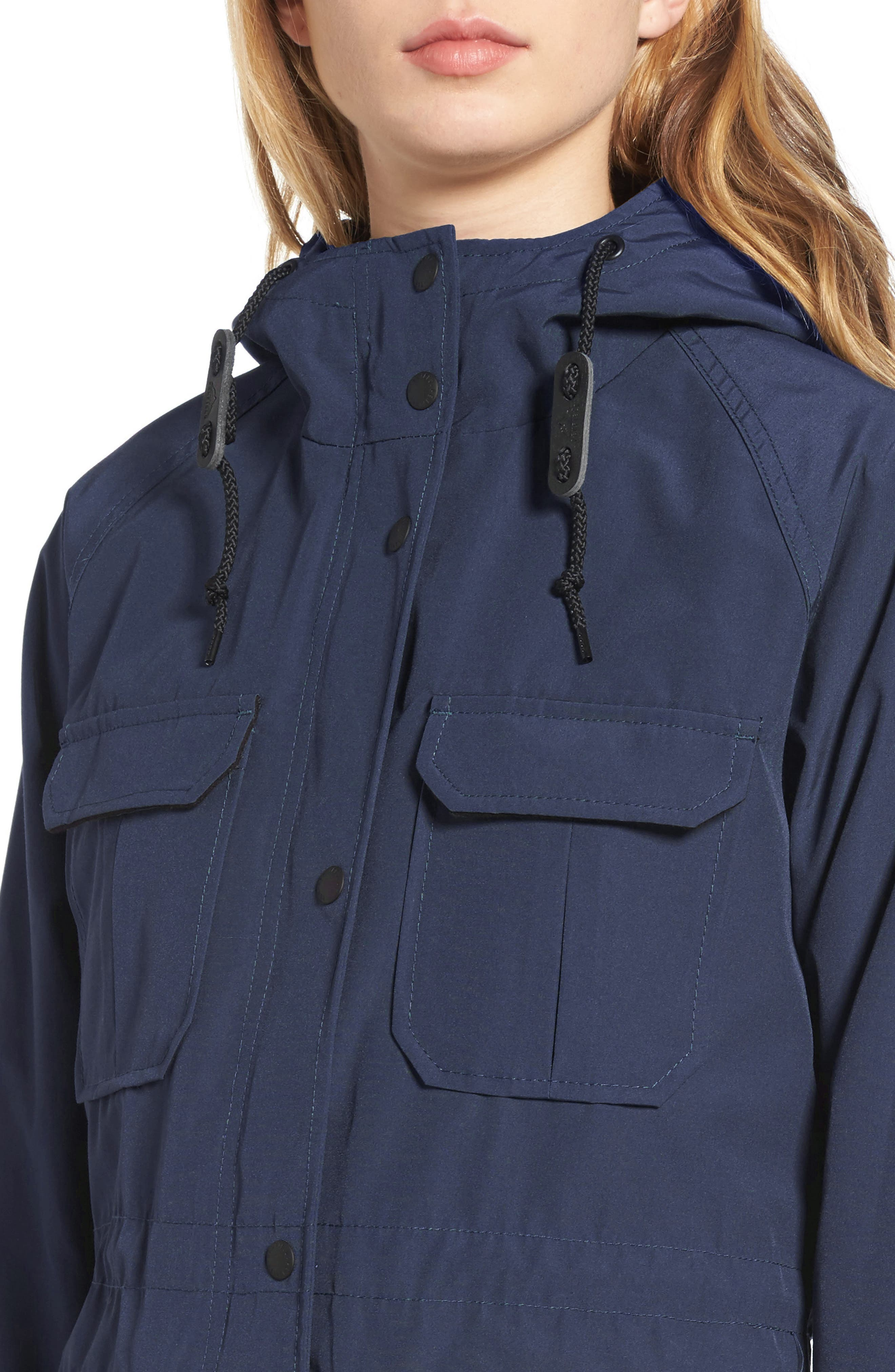 'Kasson' Double Layer Mountain Parka,                             Alternate thumbnail 4, color,                             Navy
