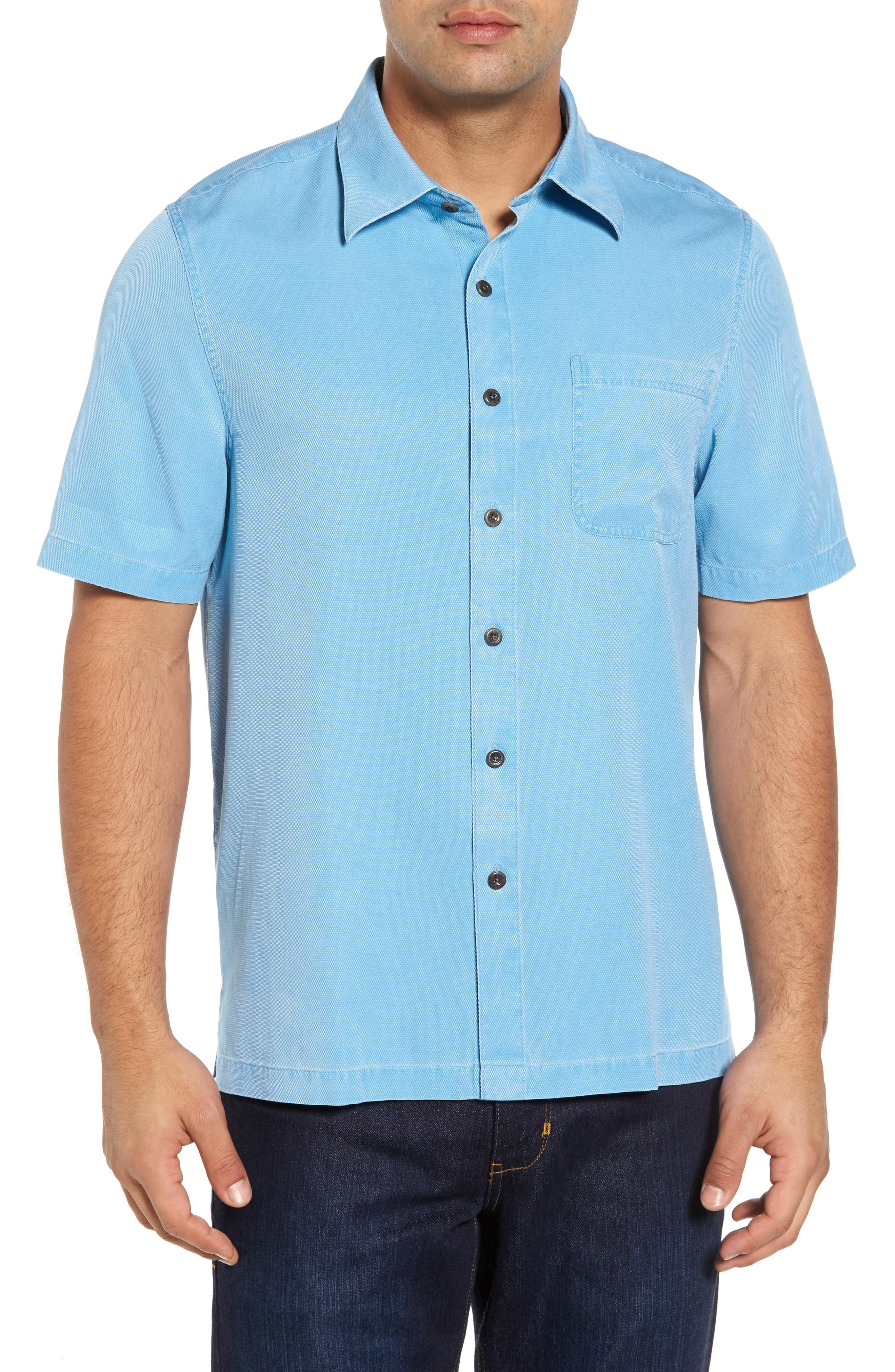 Nat Nast 'Havana Cloth' Regular Fit Short Sleeve Silk & Cotton Sport Shirt