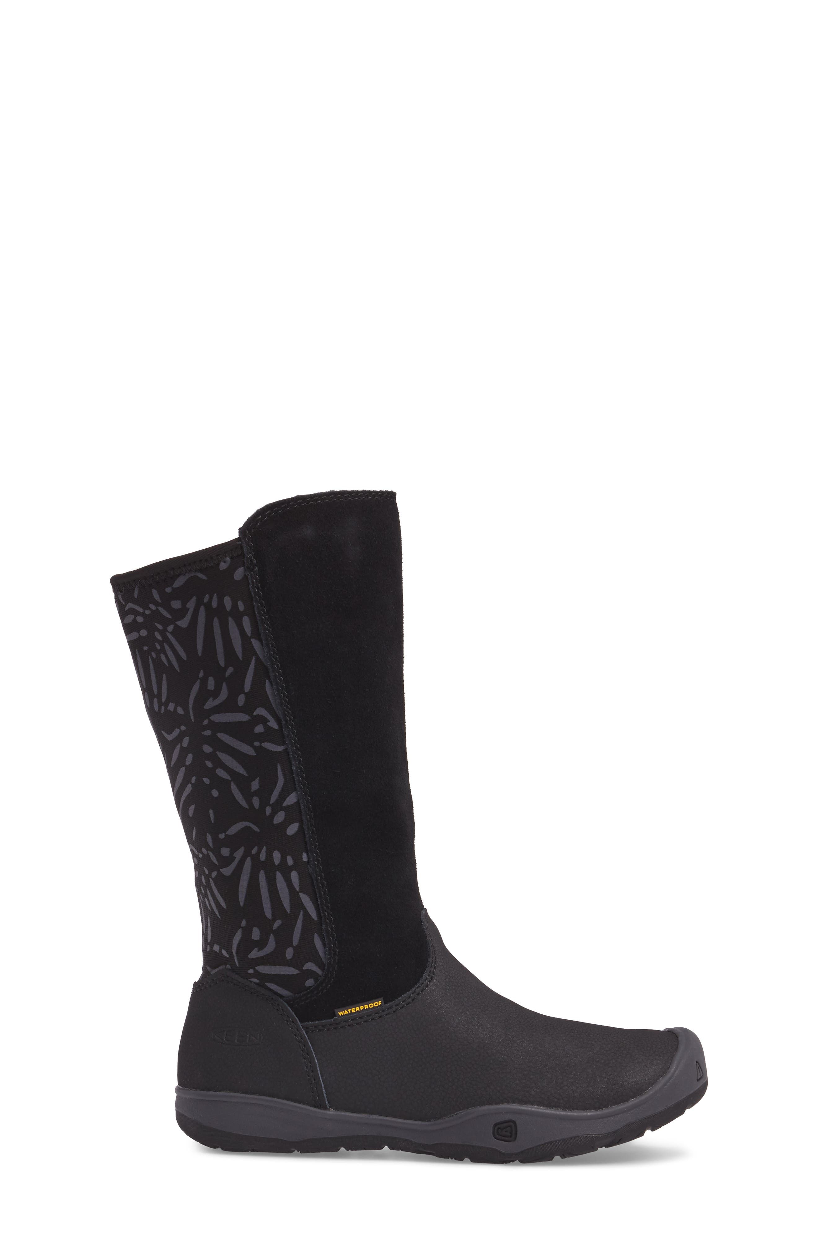 Moxie Tall Waterproof Boot,                             Alternate thumbnail 3, color,                             Black/ Magnet