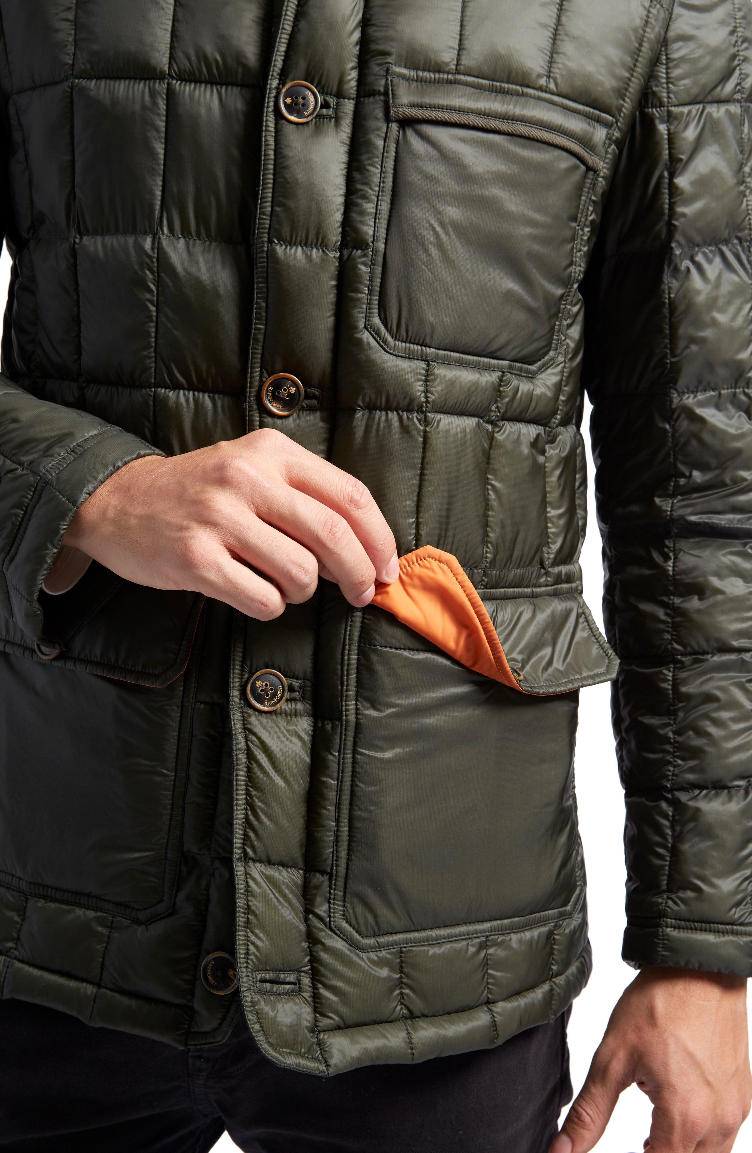 Butler Heat System Quilted Walking Jacket,                             Alternate thumbnail 4, color,                             Kale