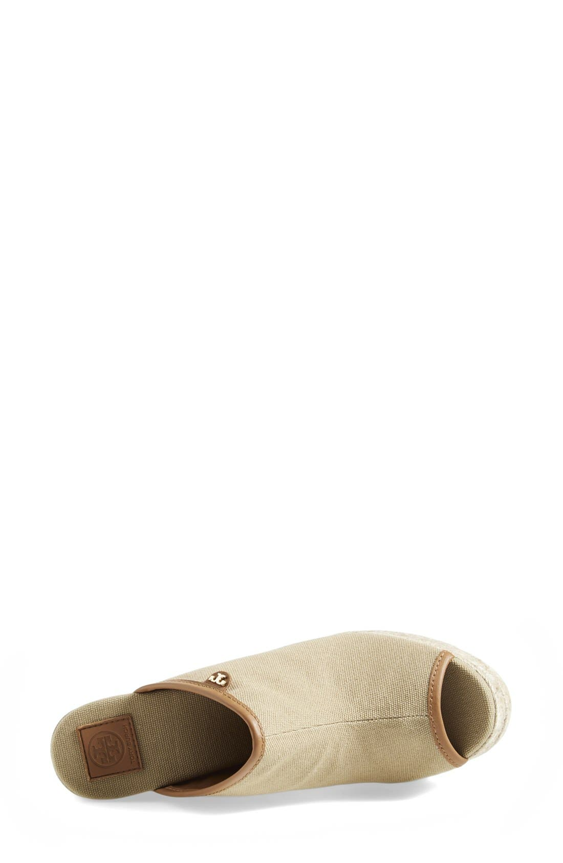 Alternate Image 3  - Tory Burch Canvas Wedge Sandal (Women)