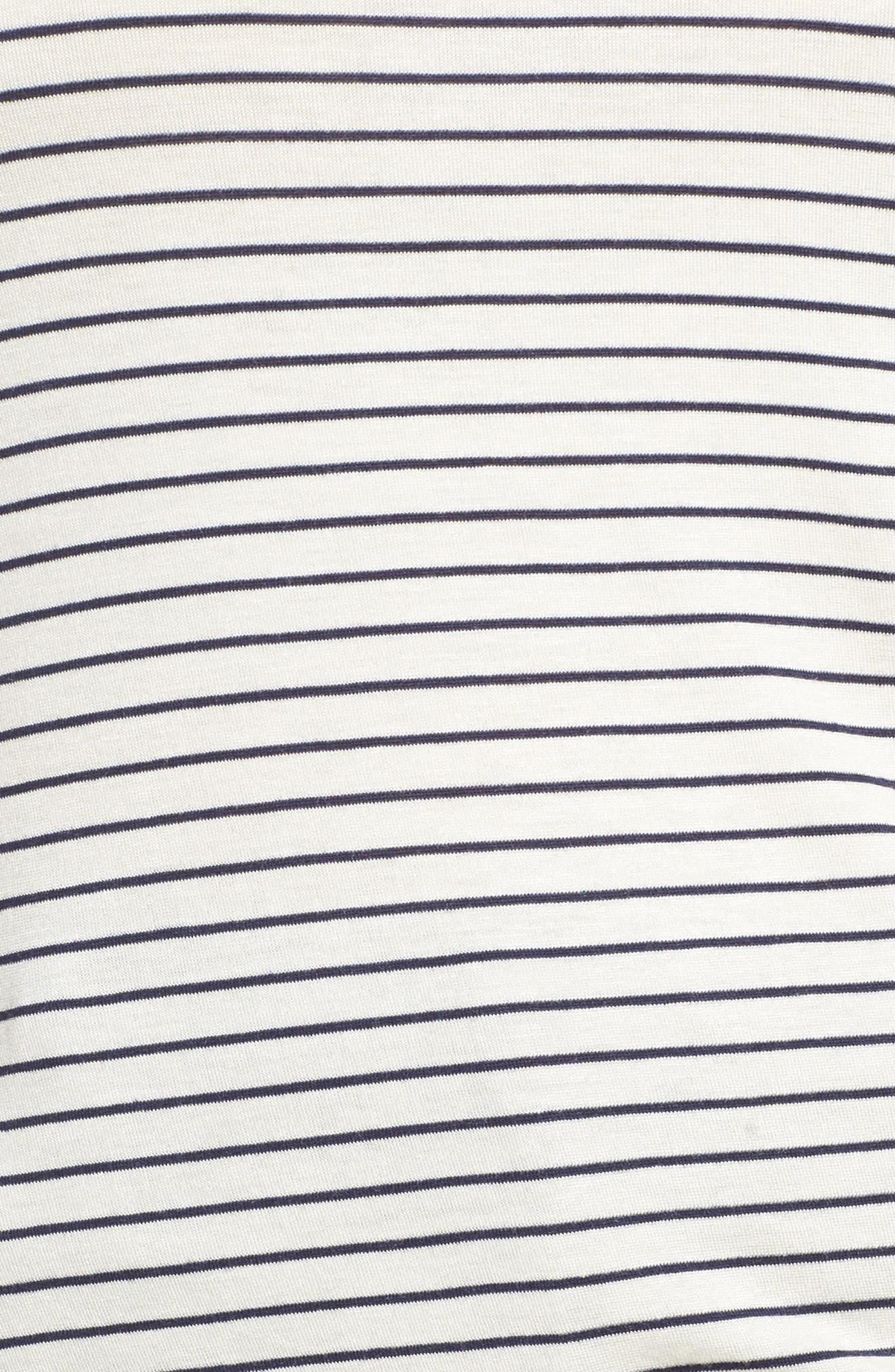 Alternate Image 5  - Sejour Drawstring Side V-Neck Top (Plus Size)