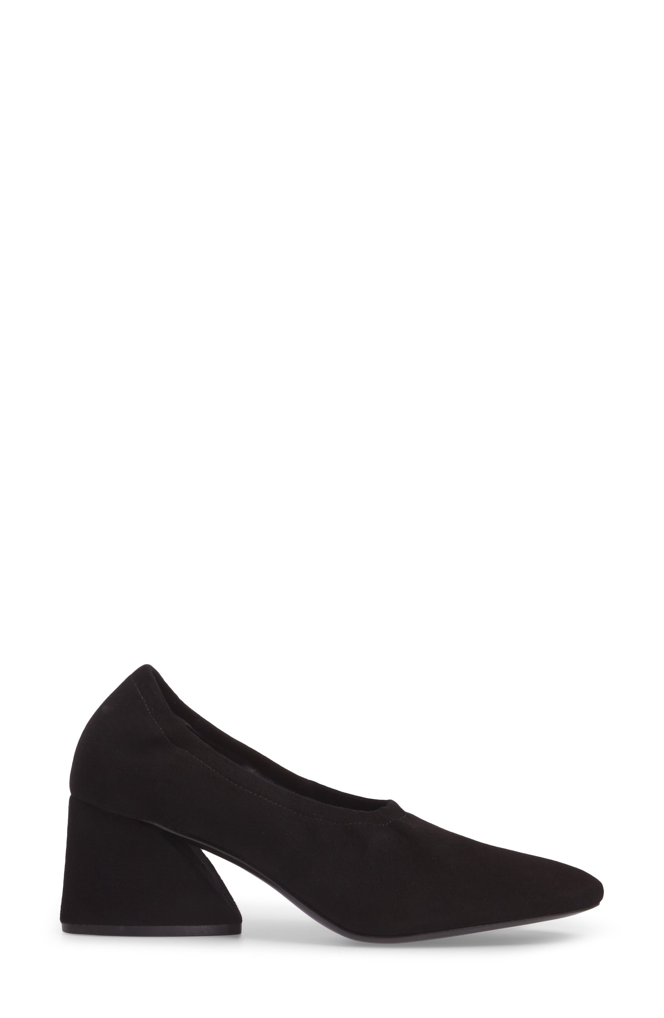 Emilia Pump,                             Alternate thumbnail 3, color,                             Black Suede