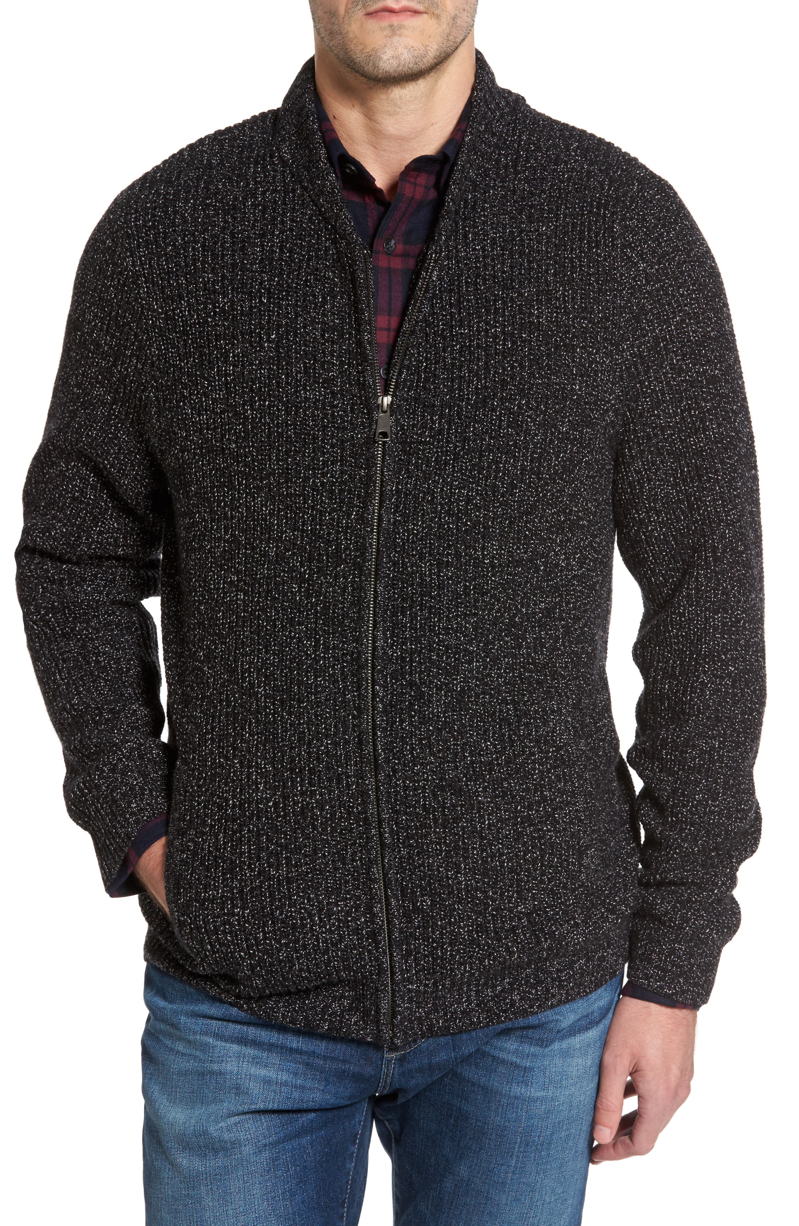Alternate Image 1 Selected - Nordstrom Men's Shop Zip Front Cardigan