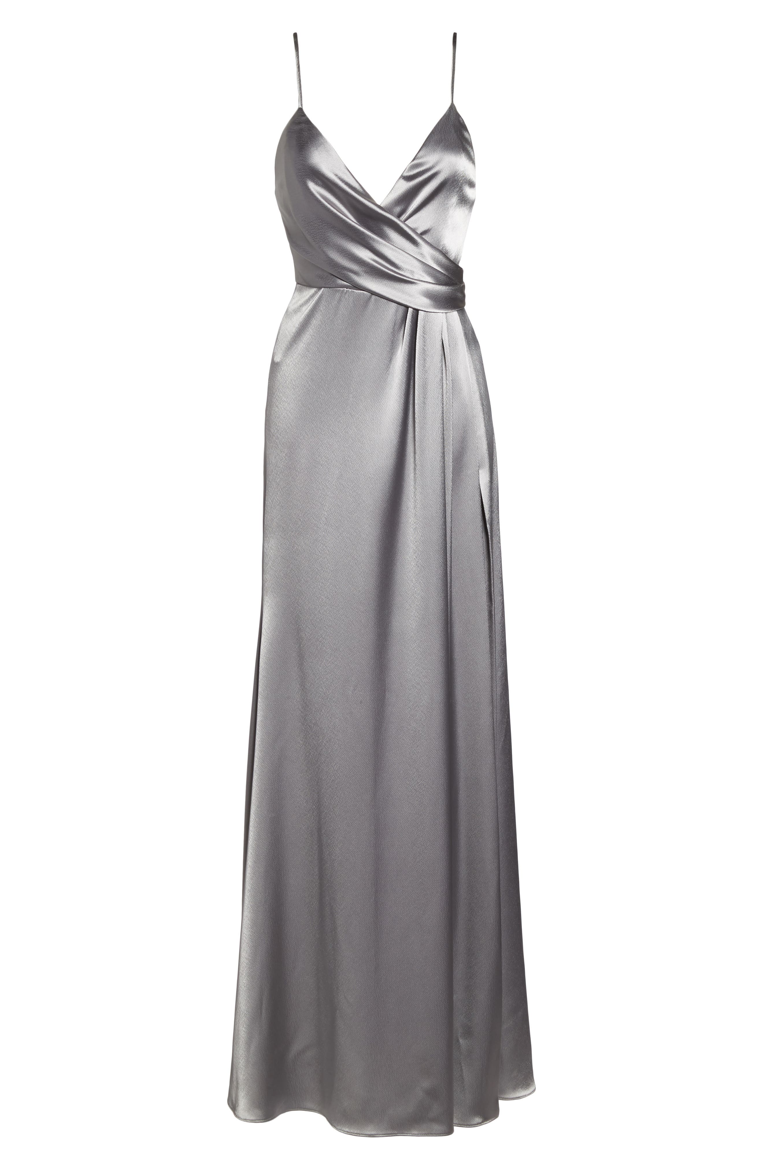 Alternate Image 6  - Jill Jill Stuart Faux Wrap Satin Gown