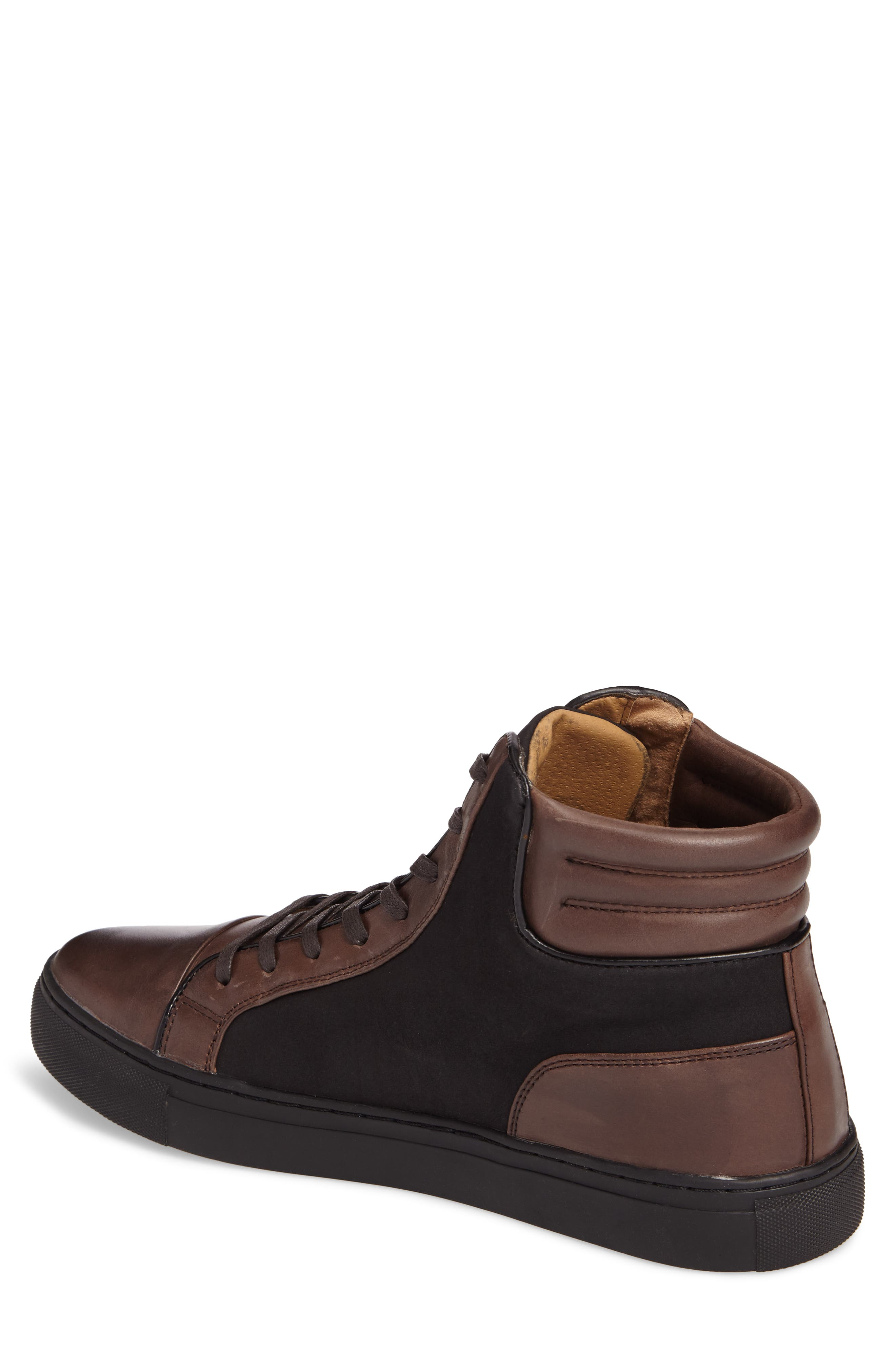 Kenneth Cole Reaction Sneaker,                             Alternate thumbnail 2, color,                             Brown/ Black