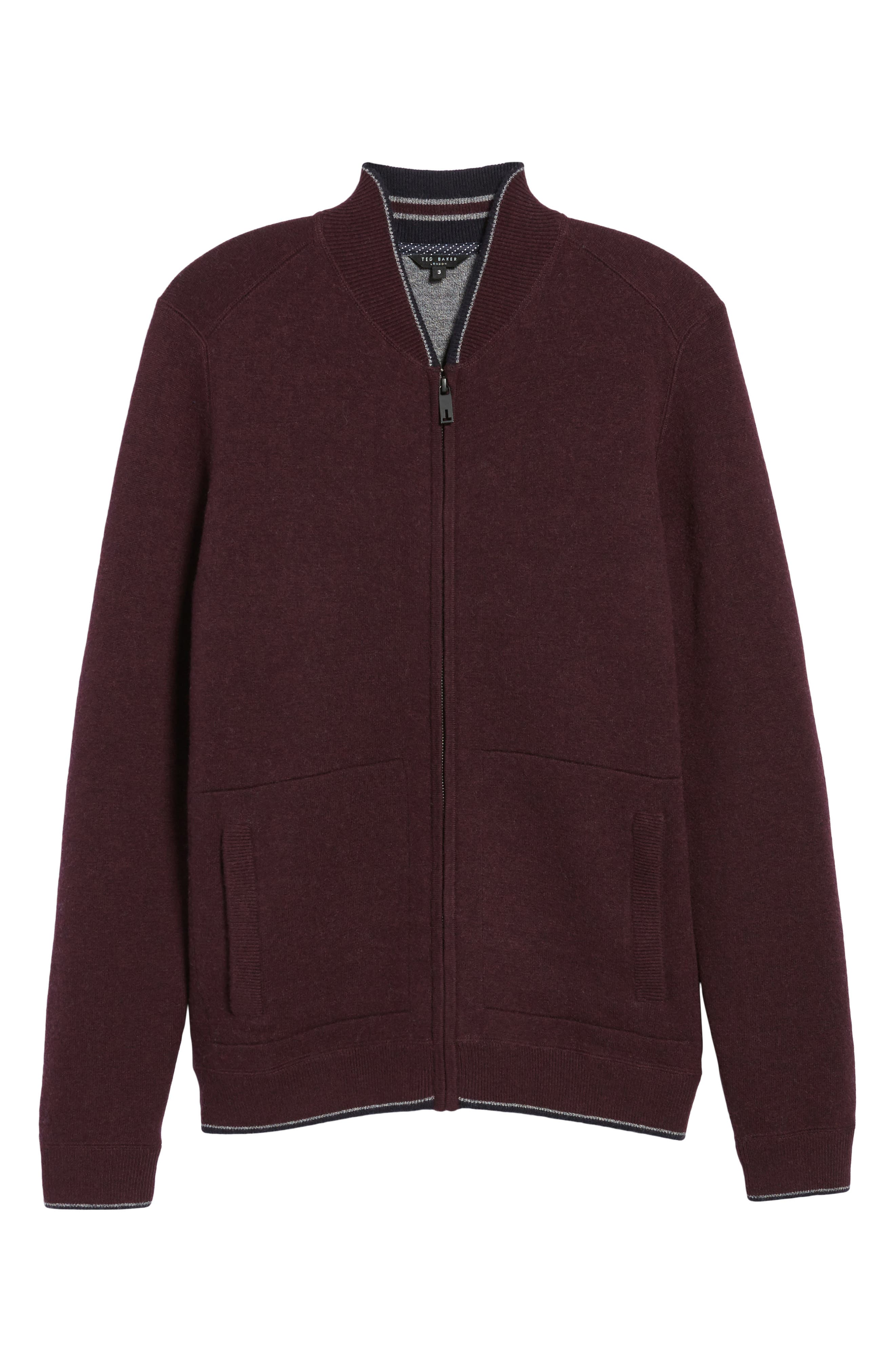 Alternate Image 6  - Ted Baker London Merino Wool Baseball Sweater
