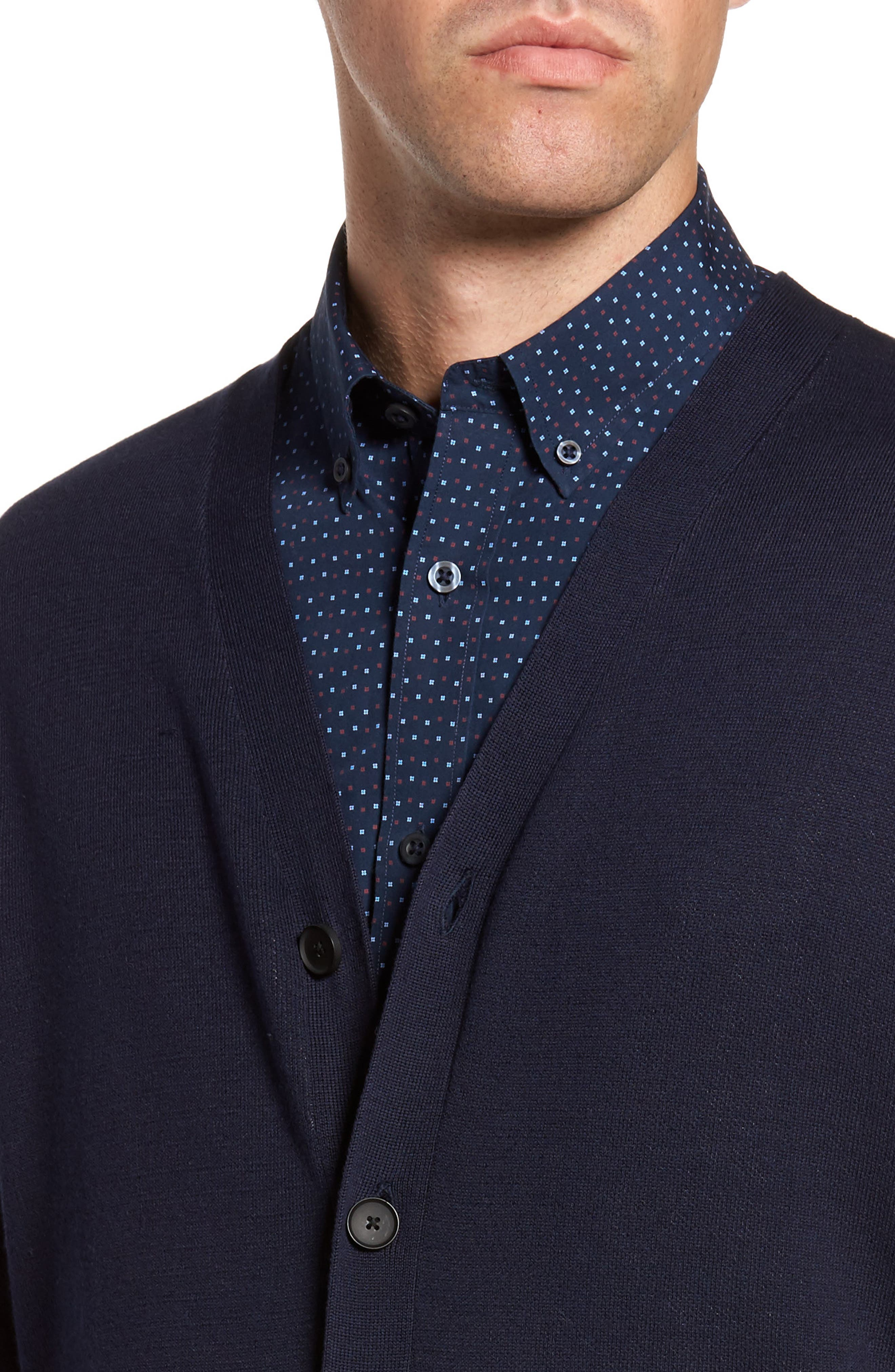Alternate Image 4  - Nordstrom Men's Shop Pima Cotton Blend Cardigan
