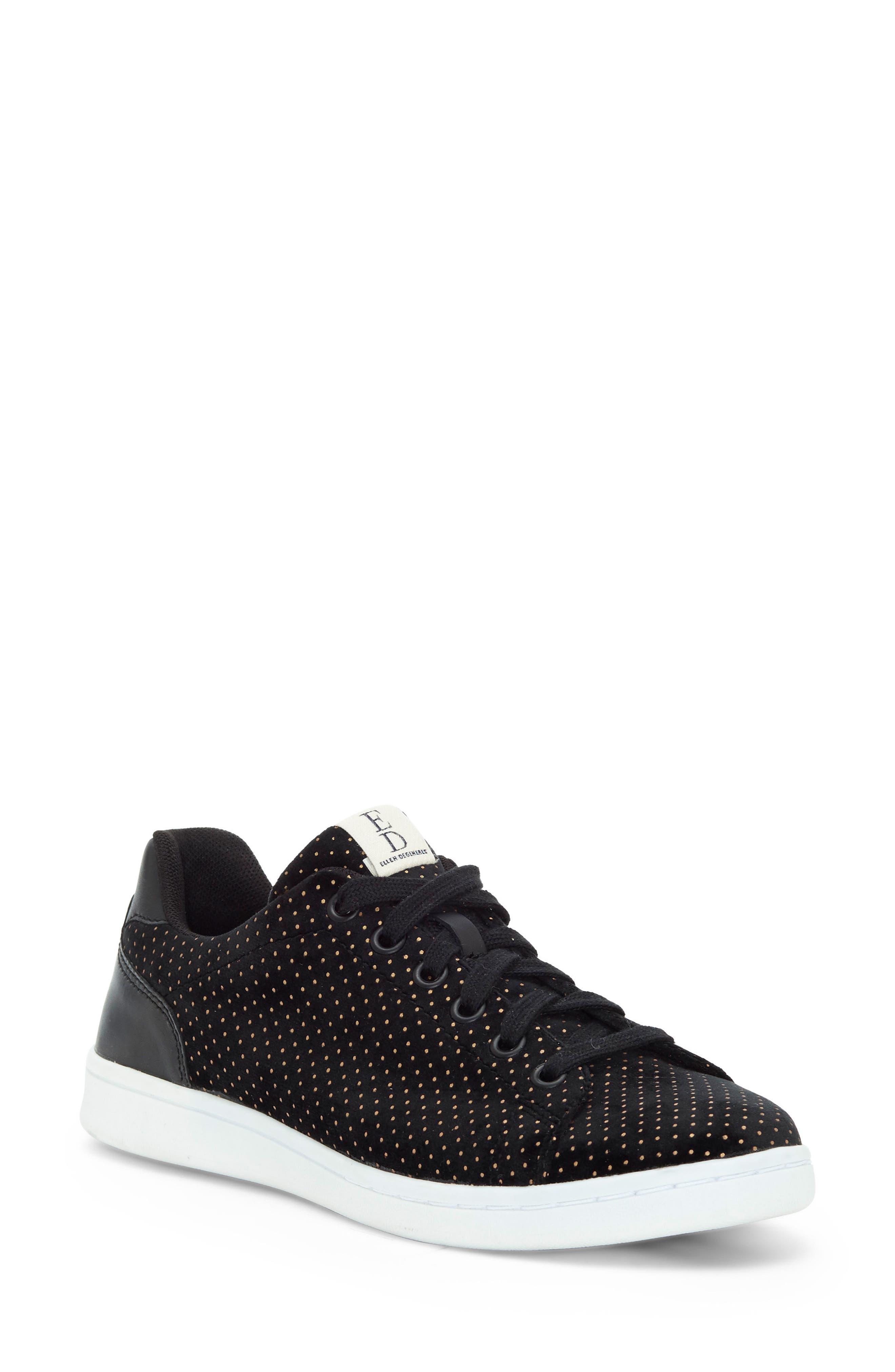 'Chapala' Sneaker,                             Main thumbnail 1, color,                             Black/ Gold Velvet