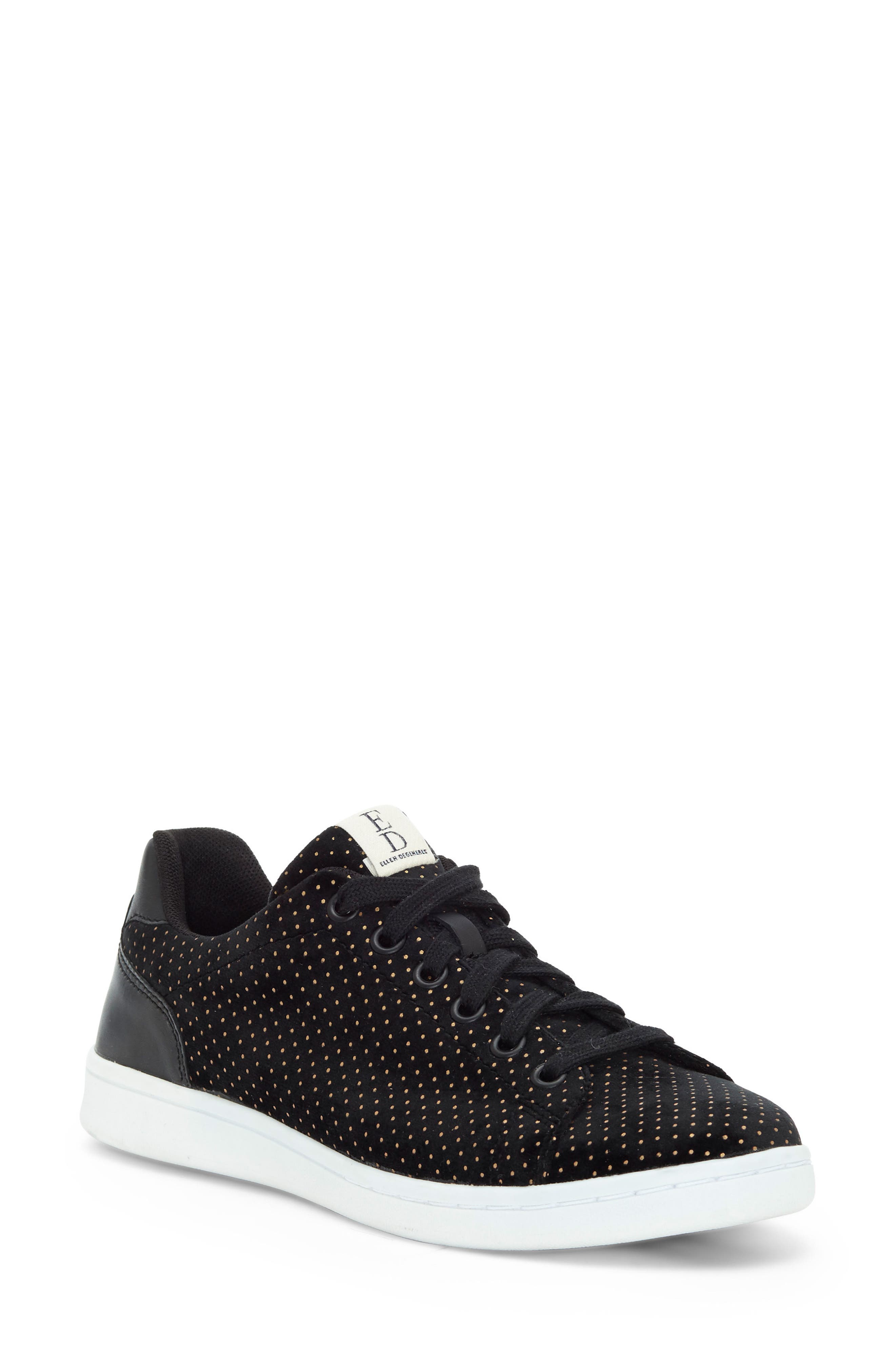 'Chapala' Sneaker,                         Main,                         color, Black/ Gold Velvet