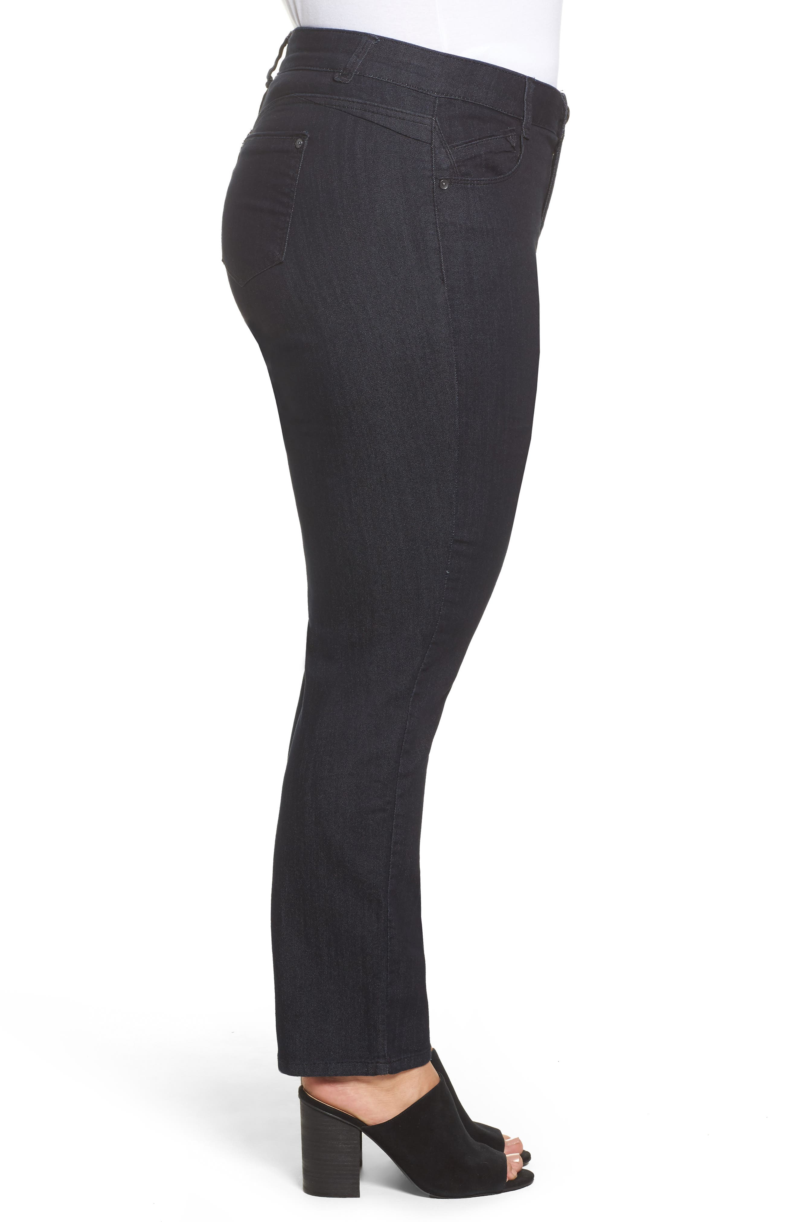 Ab-solution Straight Leg Jeans,                             Alternate thumbnail 3, color,                             Indigo