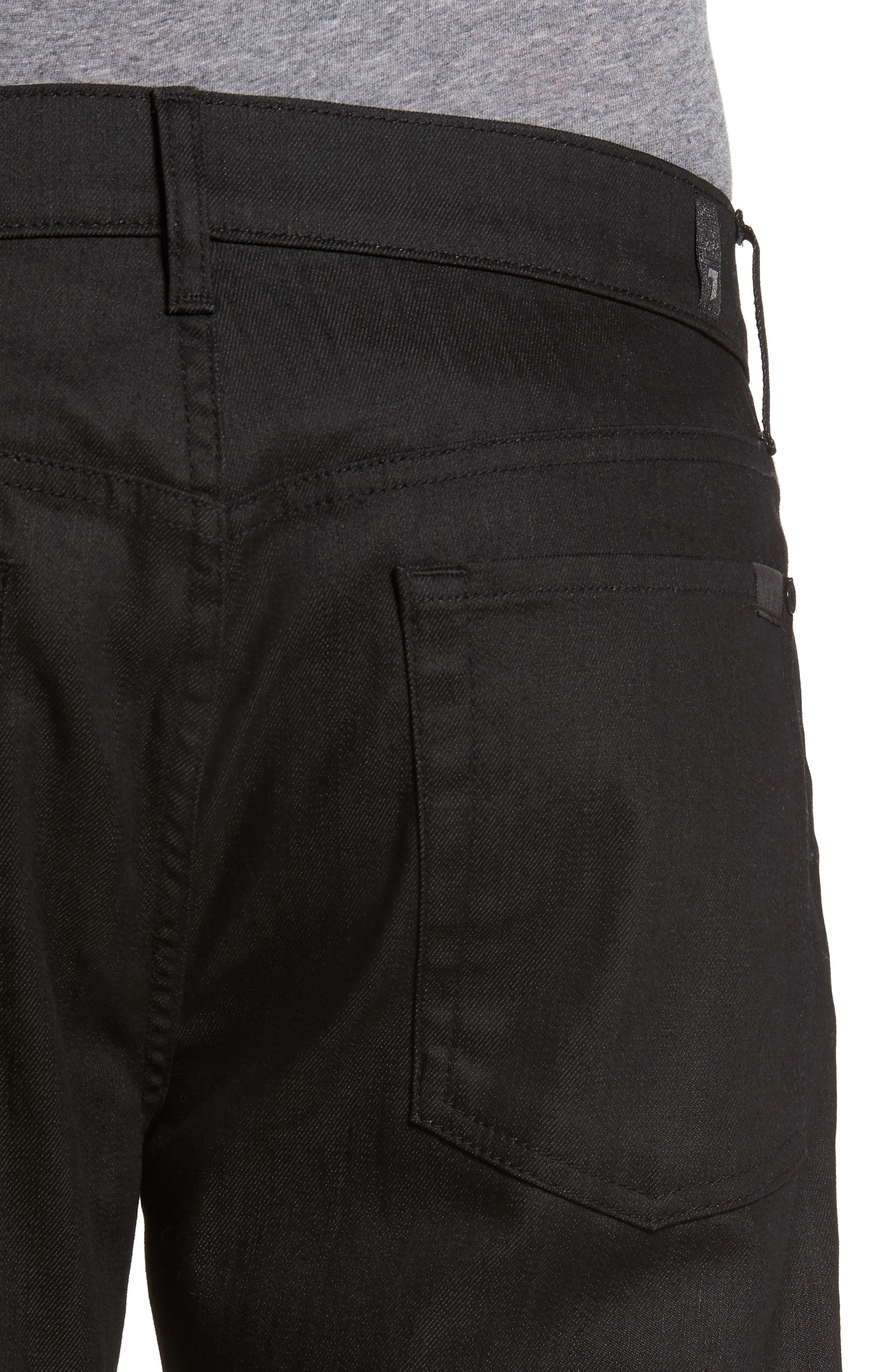 Alternate Image 4  - 7 For All Mankind® The Straight Slim Straight Fit Jeans (Soirée Black)
