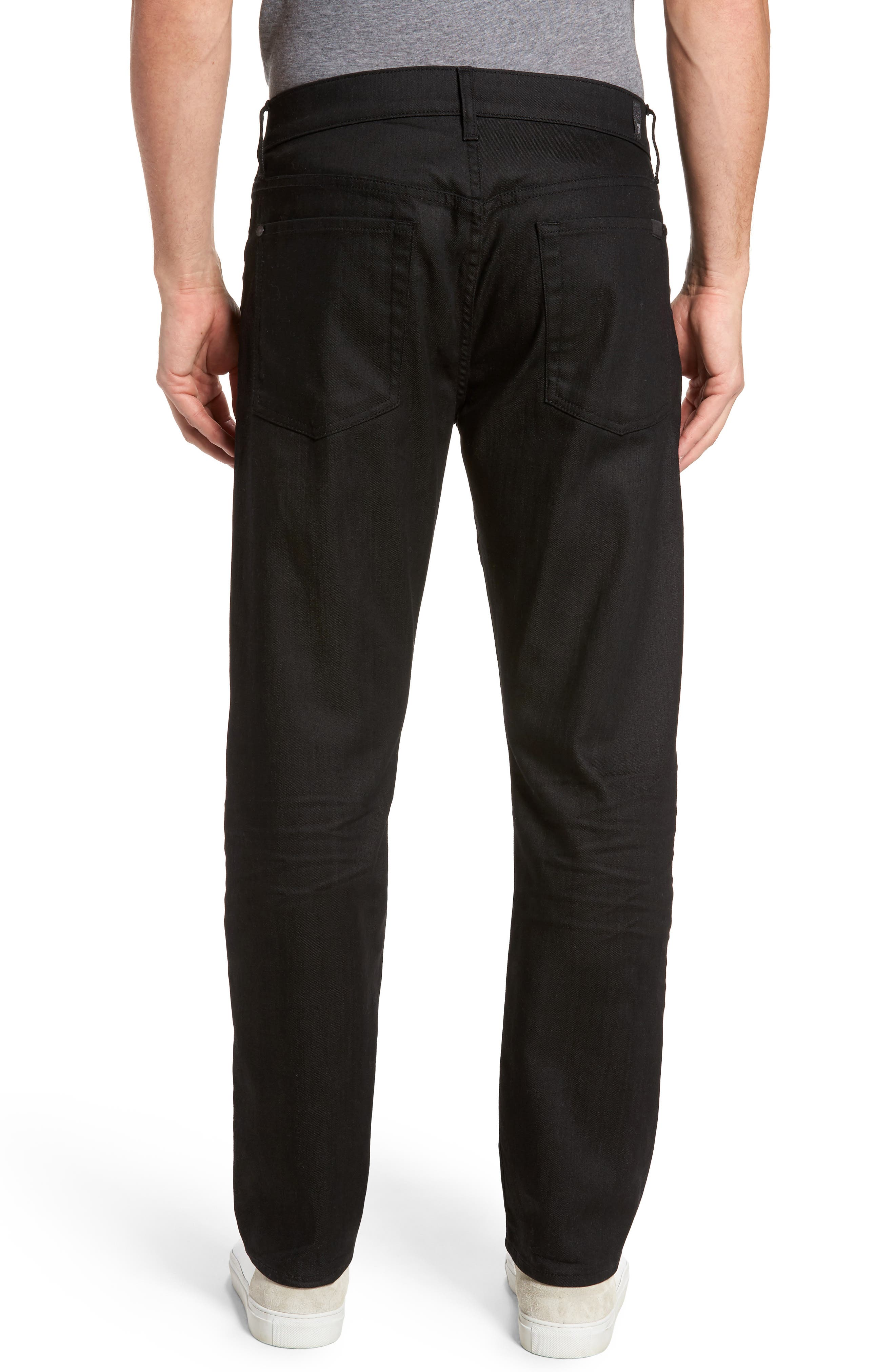 Alternate Image 2  - 7 For All Mankind® The Straight Slim Straight Fit Jeans (Soirée Black)