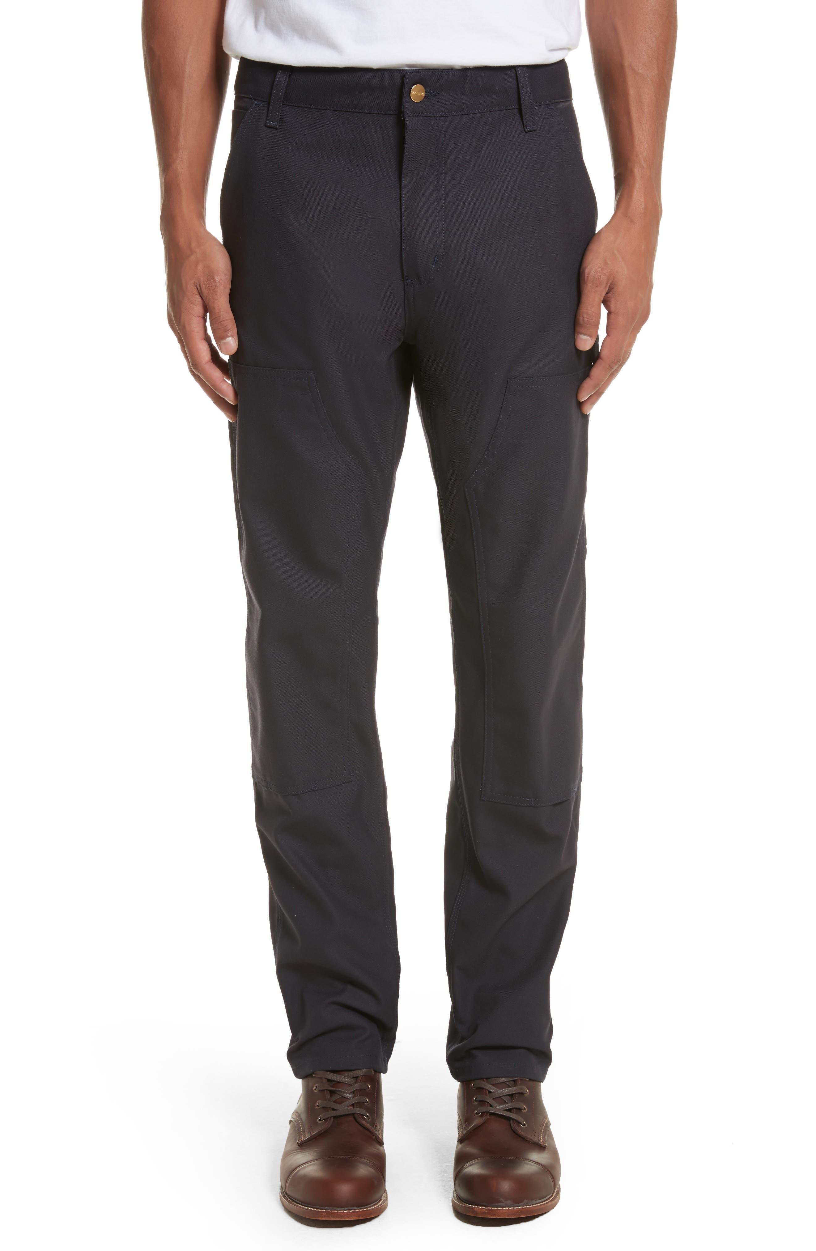 Ruck Double Knee Canvas Pants,                         Main,                         color, Dark Navy