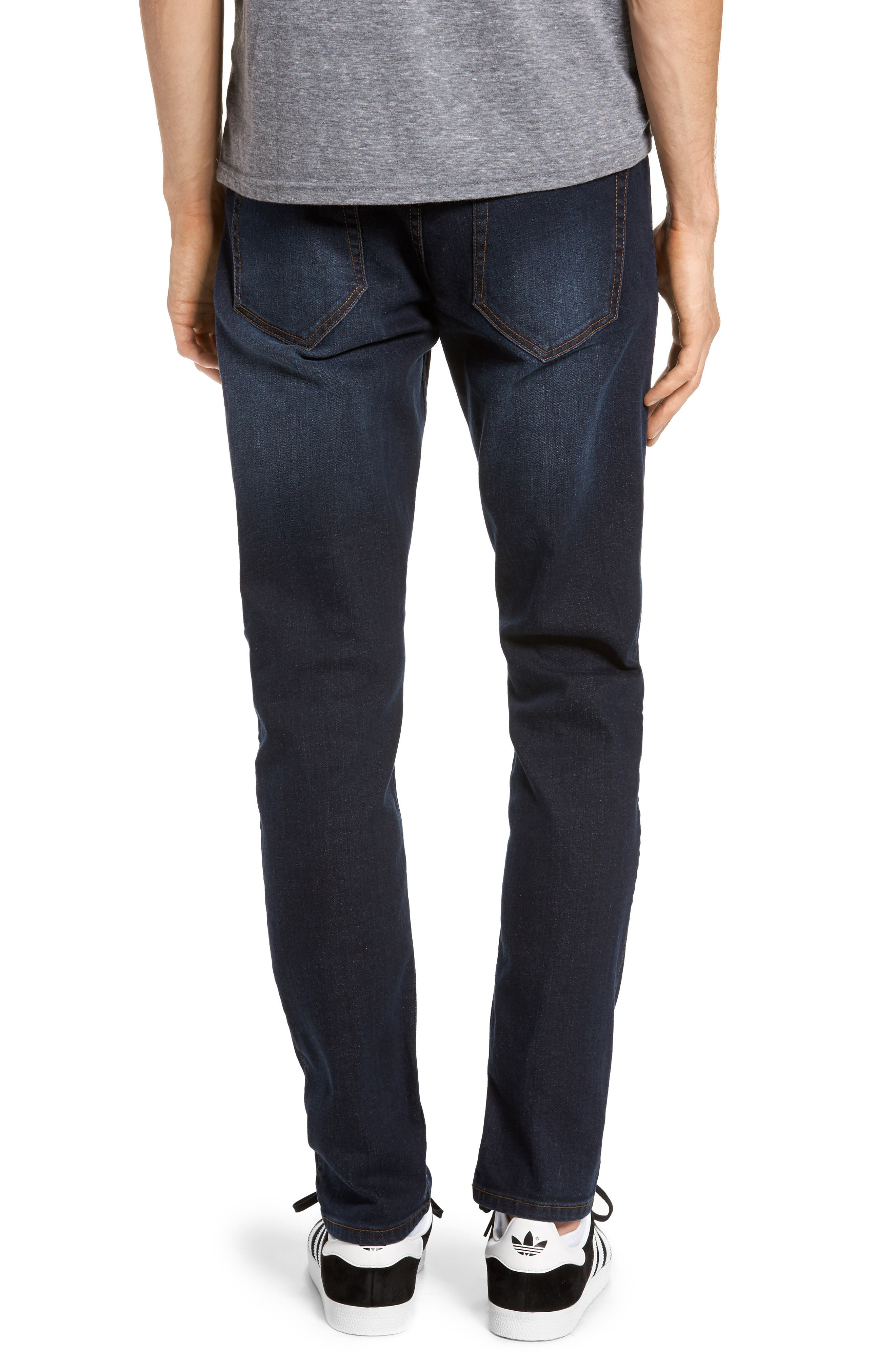 Clark Sim Straight Fit Jeans,                             Alternate thumbnail 2, color,                             Worn Dark Blue