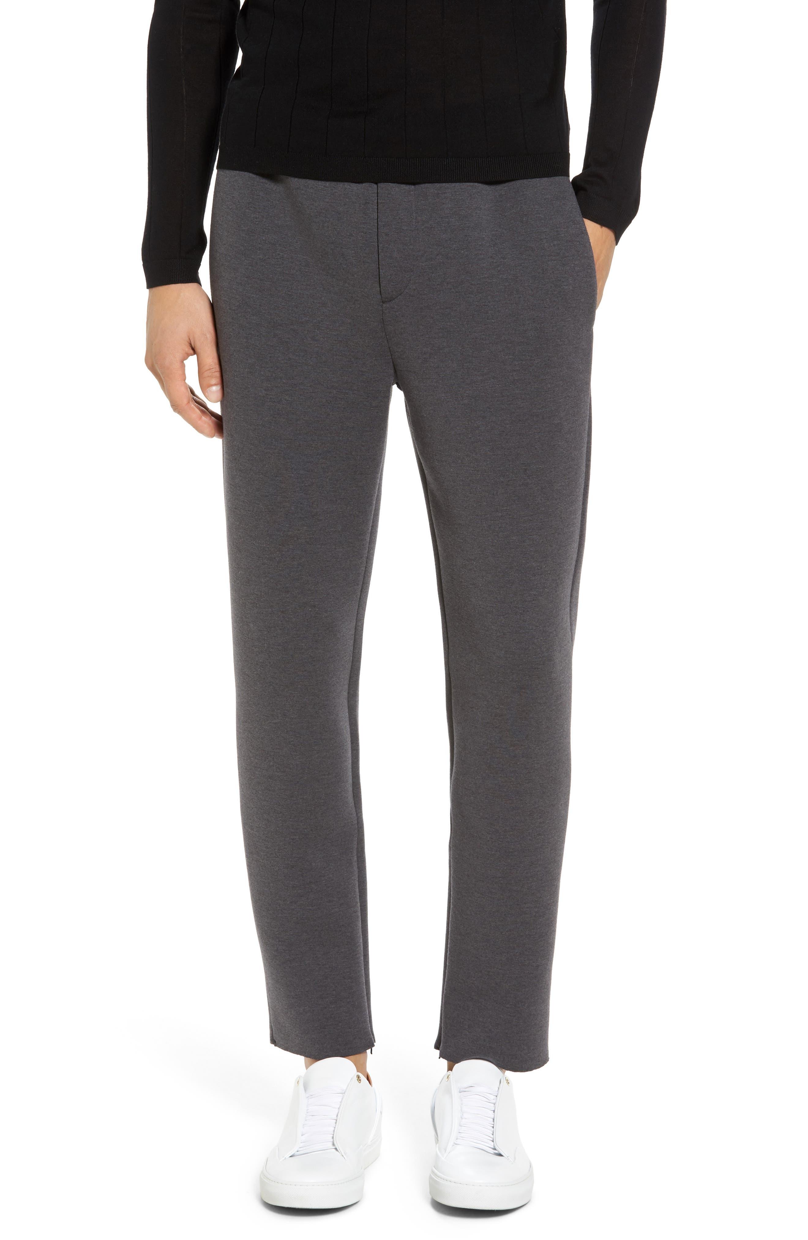Knit Lounge Pants,                         Main,                         color, Charcoal Heather