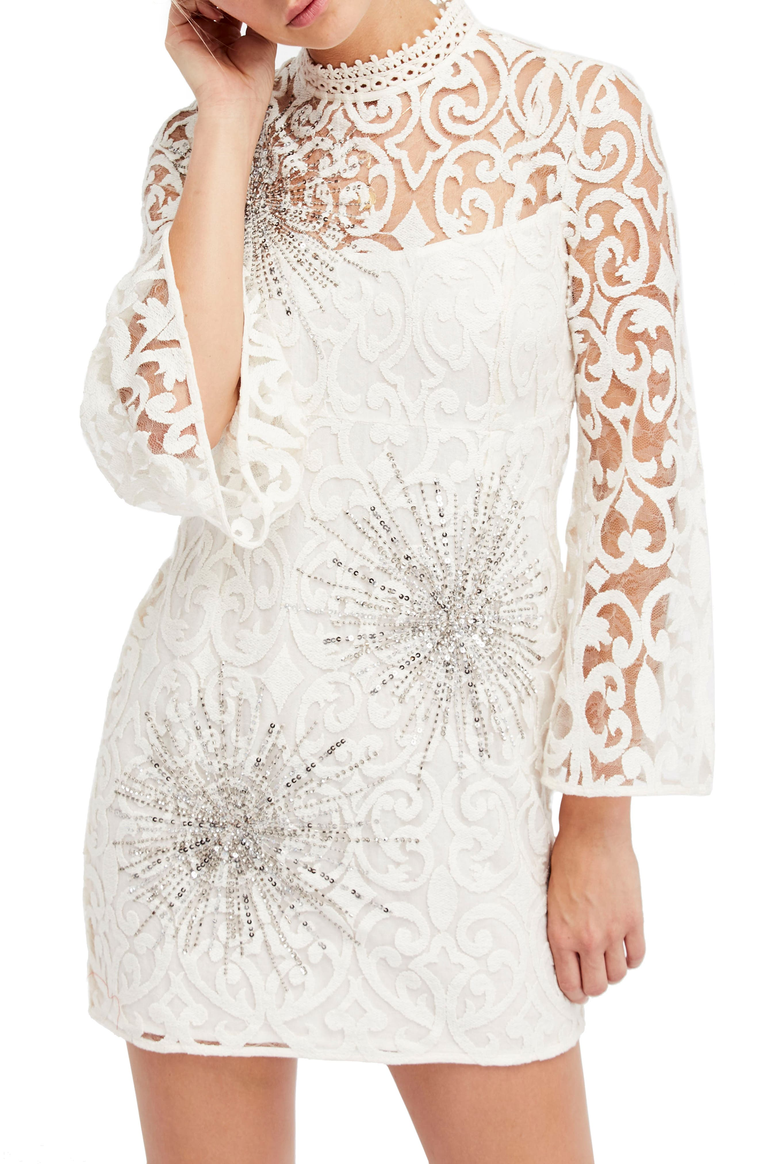 North Star Minidress,                         Main,                         color, Ivory