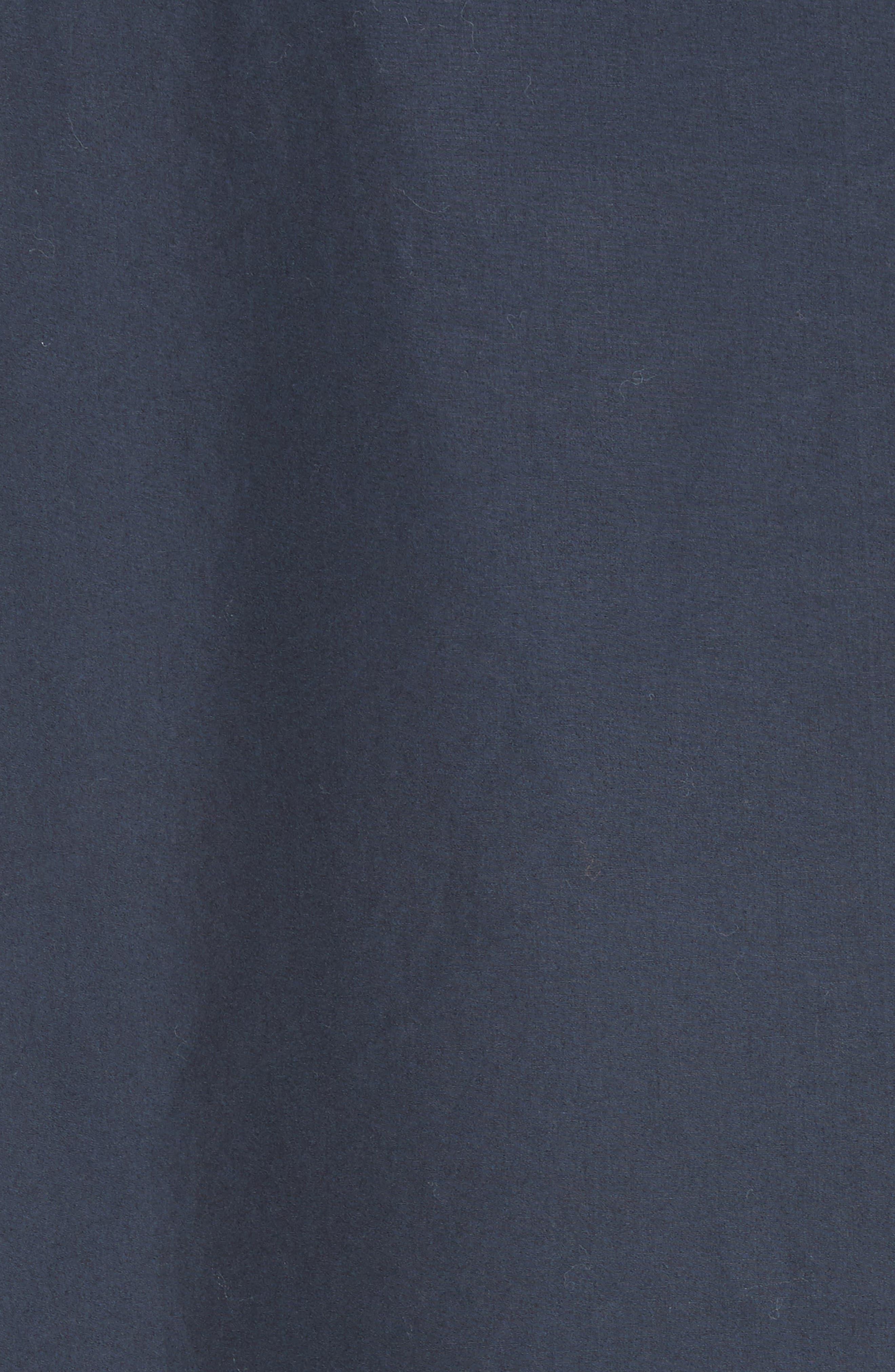 Bow Cold Shoulder Cotton Blouse,                             Alternate thumbnail 5, color,                             Navy