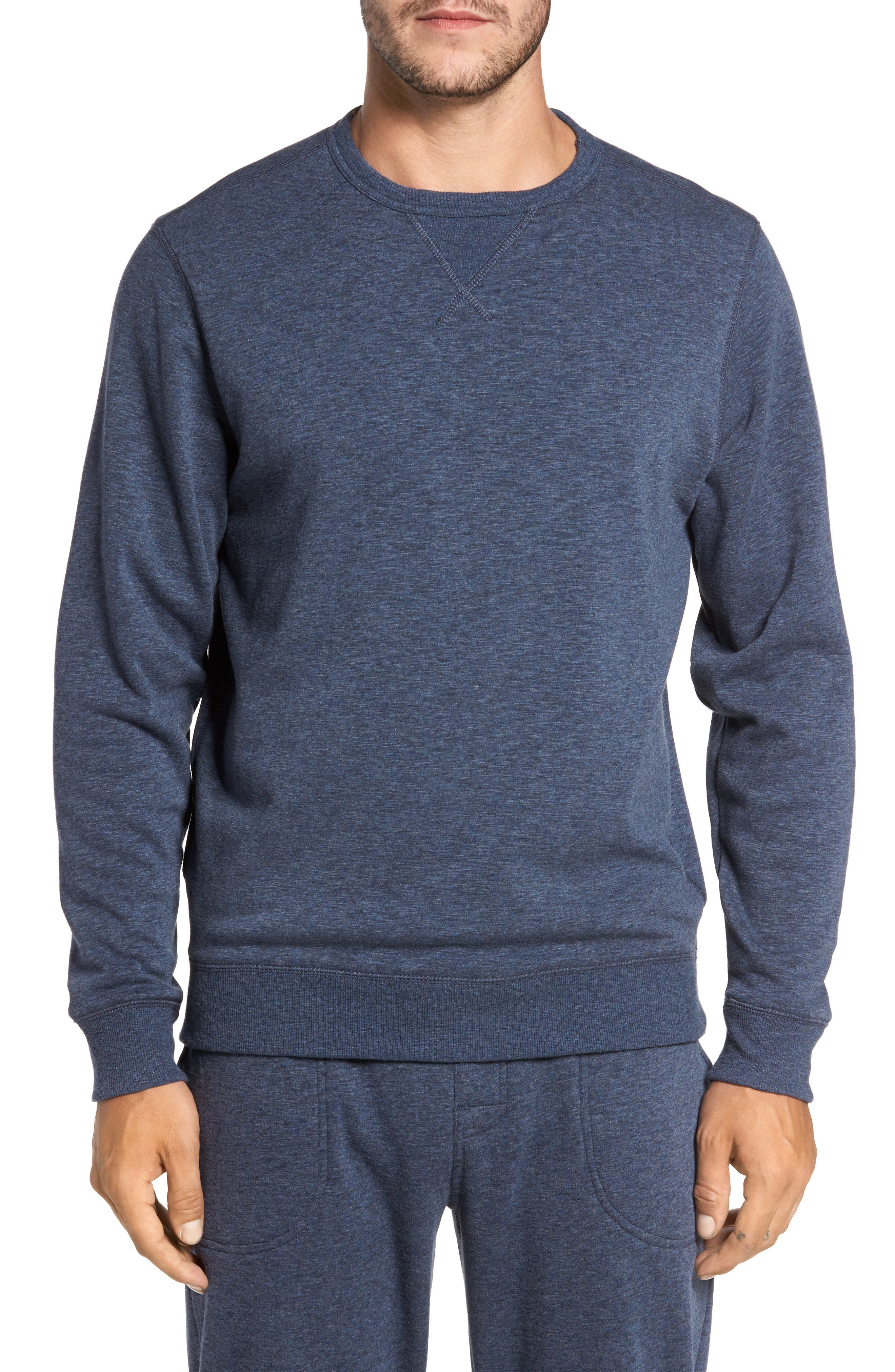 Alternate Image 1 Selected - Nordstrom Men's Shop French Terry Long Sleeve Pajama Top
